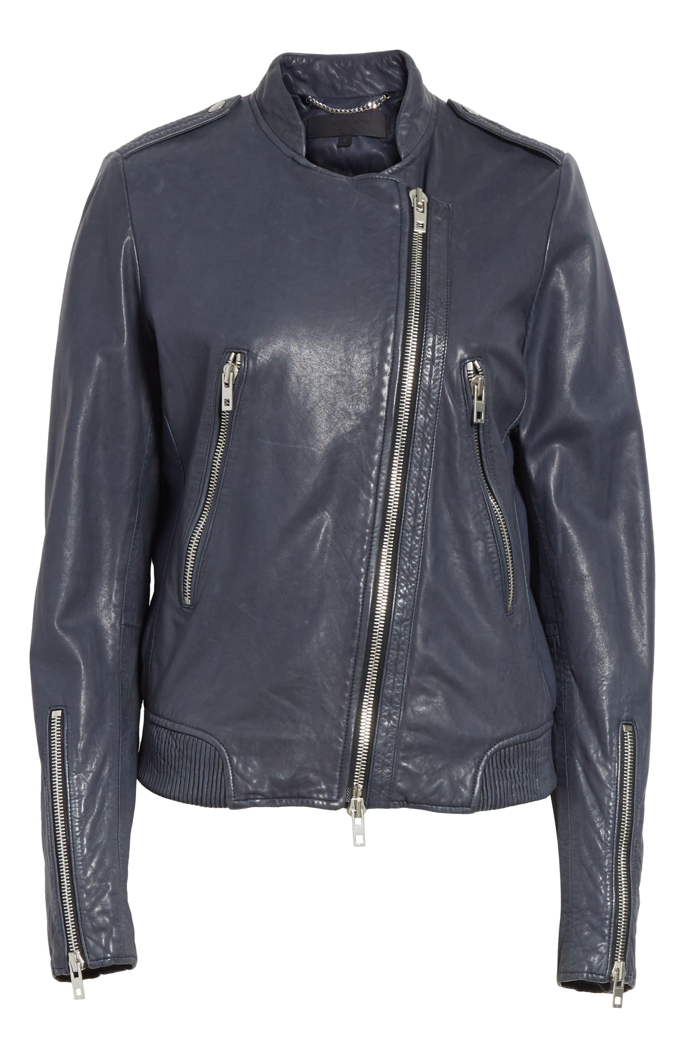 Alternate Image 7  - rag & bone Lyon Leather Jacket