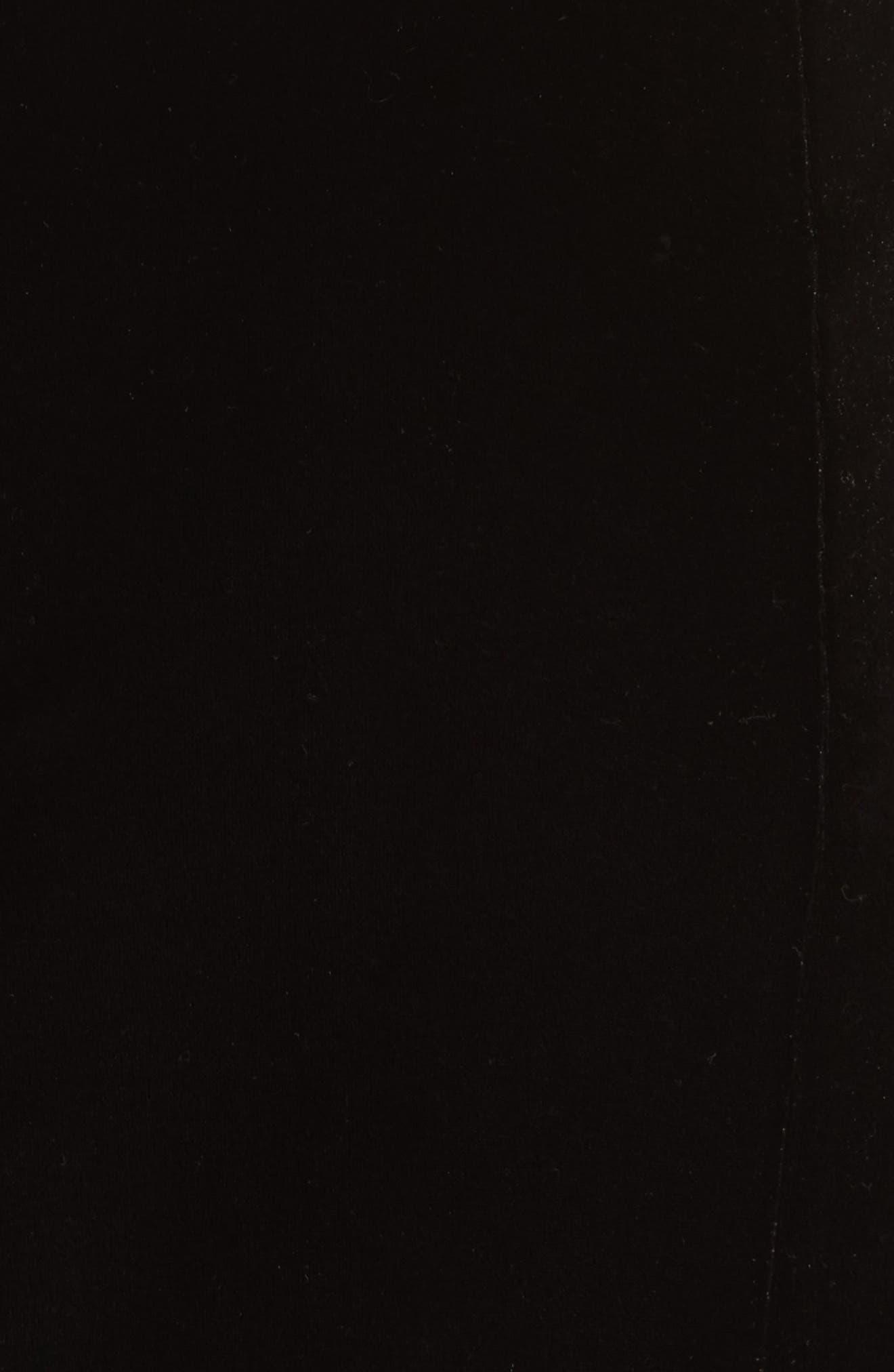 Velvet Jacket Dress,                             Alternate thumbnail 5, color,                             Black