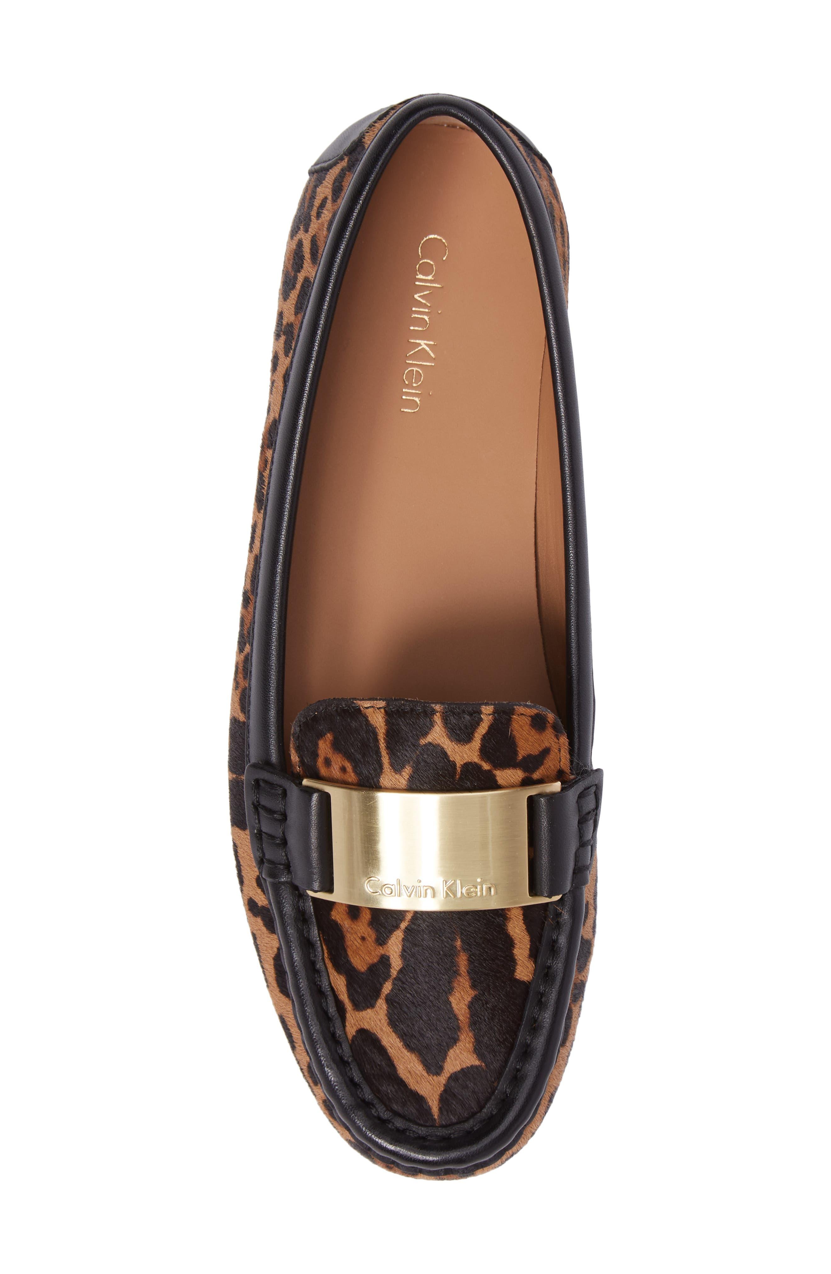 Lisette Loafer,                             Alternate thumbnail 5, color,                             Natural Leopard Hair Calf