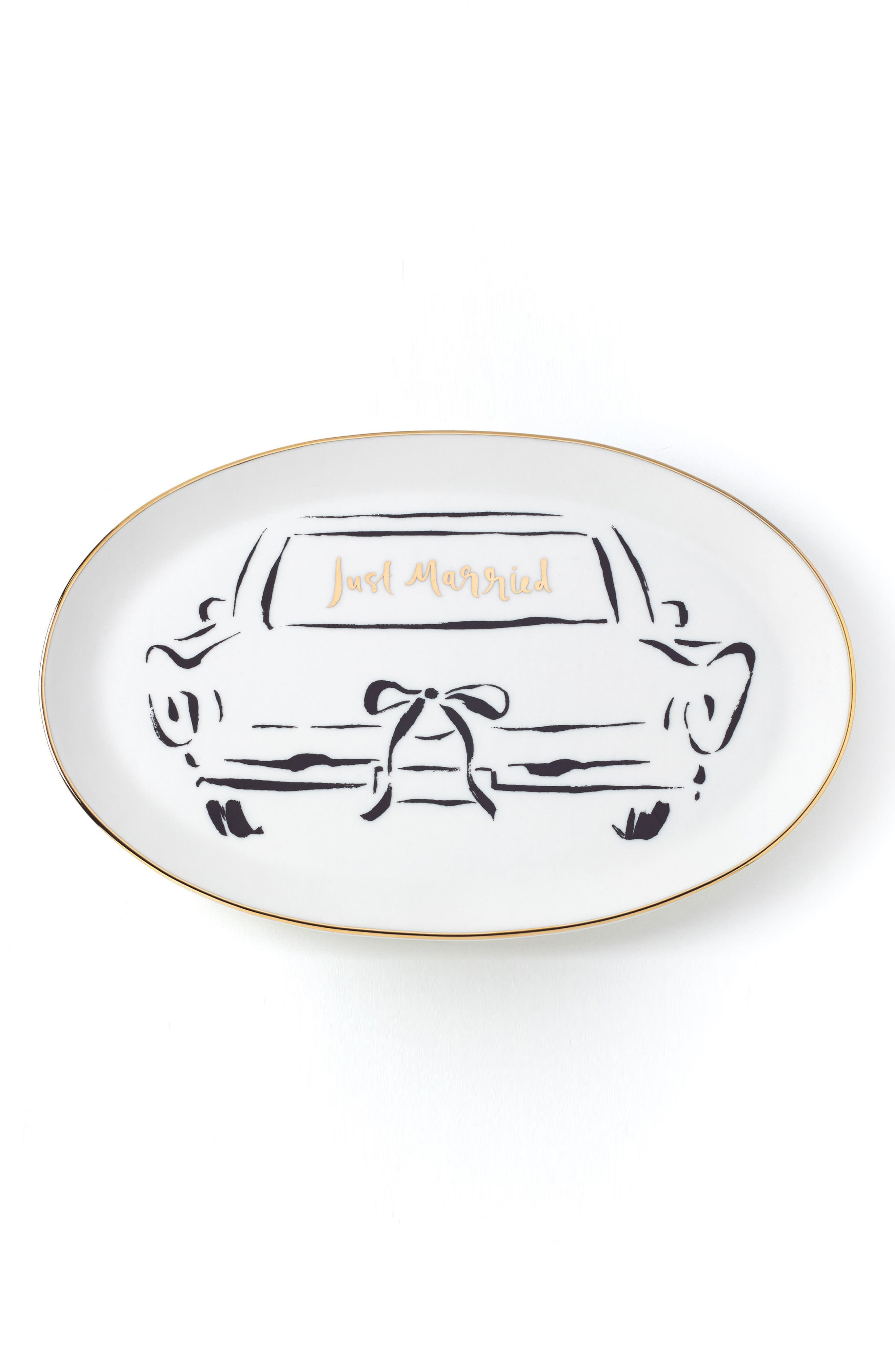 just married platter,                             Main thumbnail 1, color,                             White