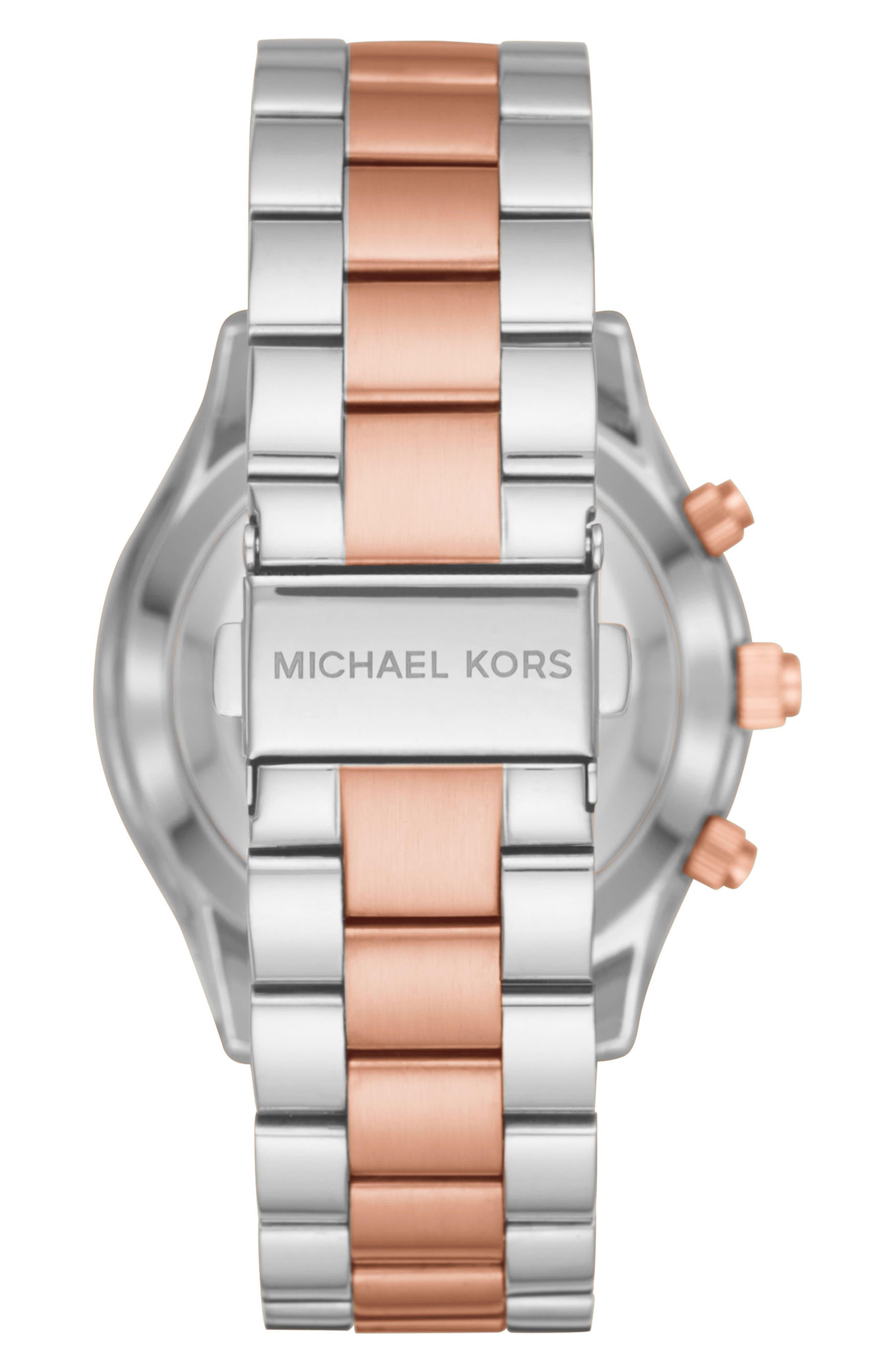 MICHAEL Michael Kors Slim Runway Smart Watch, 42mm,                             Alternate thumbnail 2, color,                             Silver/ Rose Gold