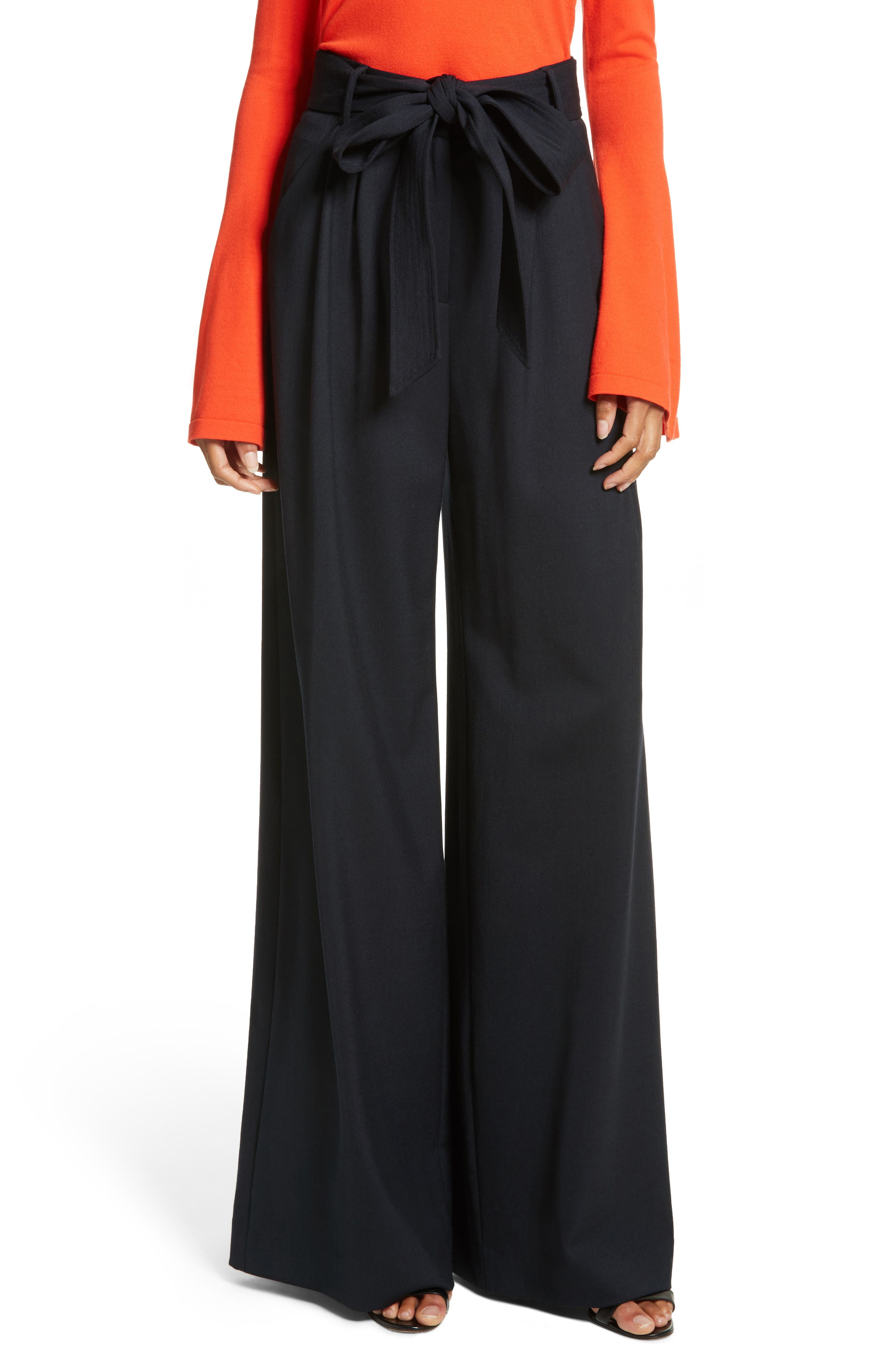 Main Image - Milly Italian Gabardine Trapunto Trousers