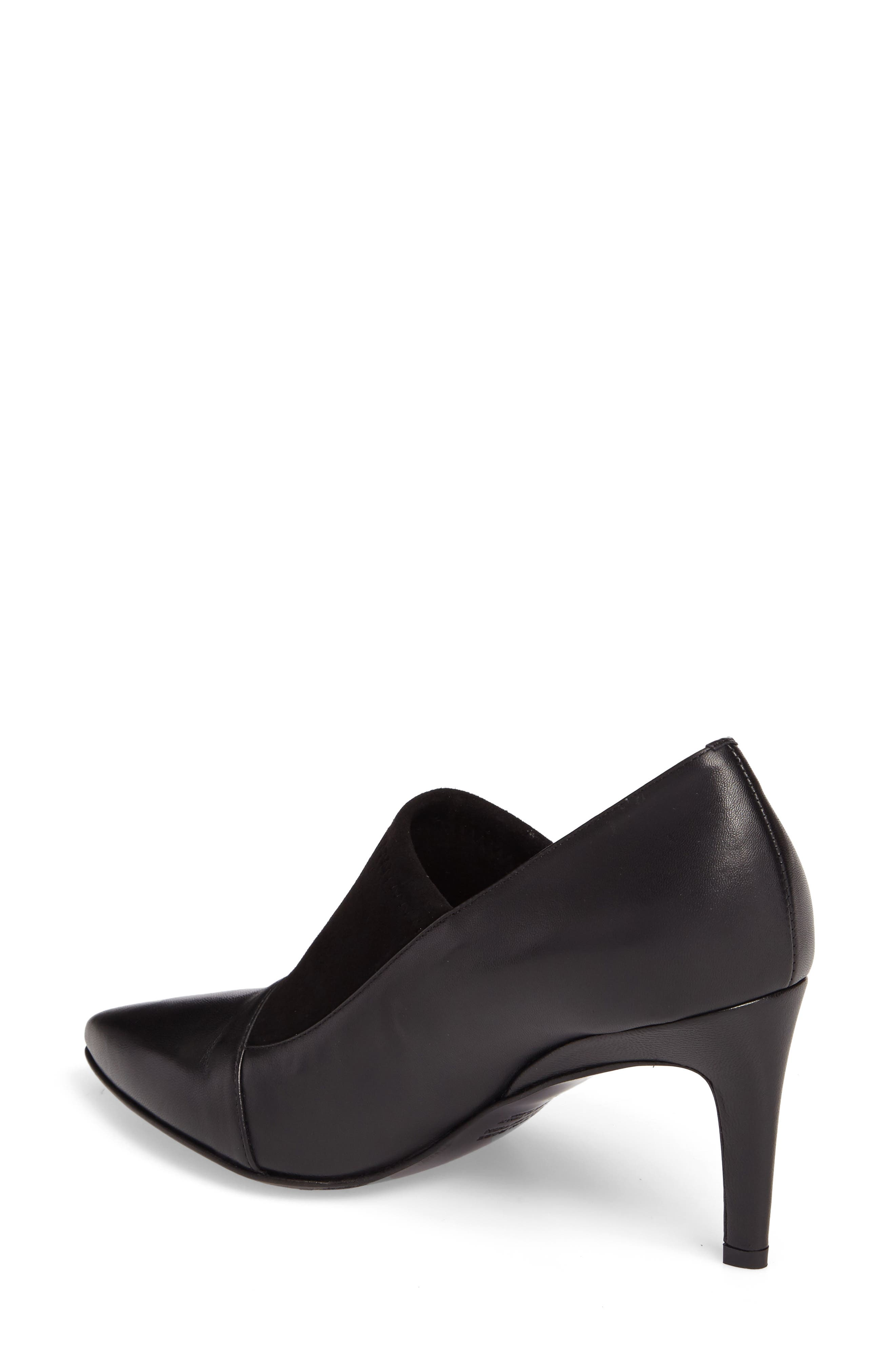 Ghita Pointy Toe Pump,                             Alternate thumbnail 2, color,                             Black Leather