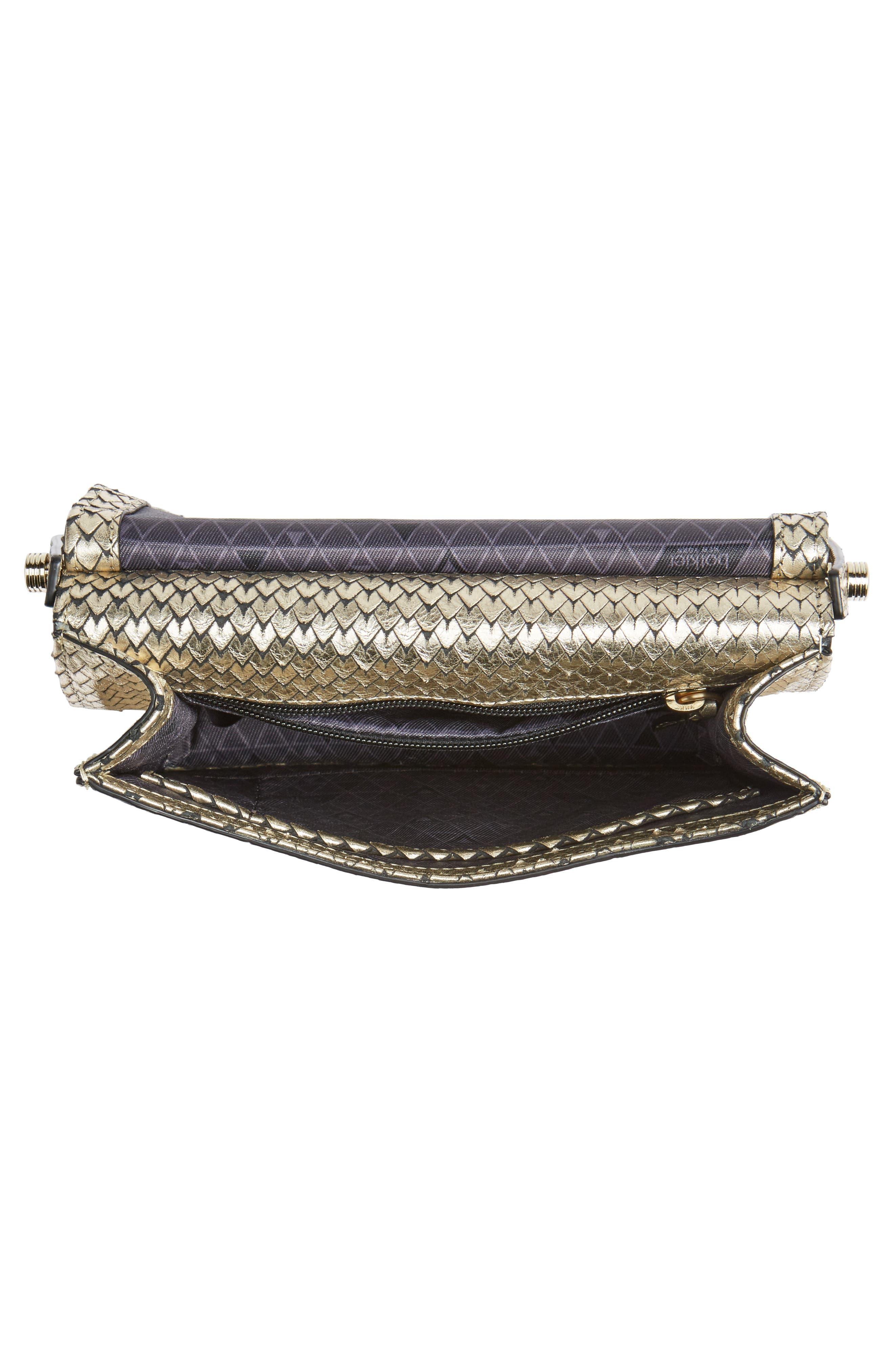 Crawford Calfskin Leather Crossbody Bag,                             Alternate thumbnail 4, color,                             Gold