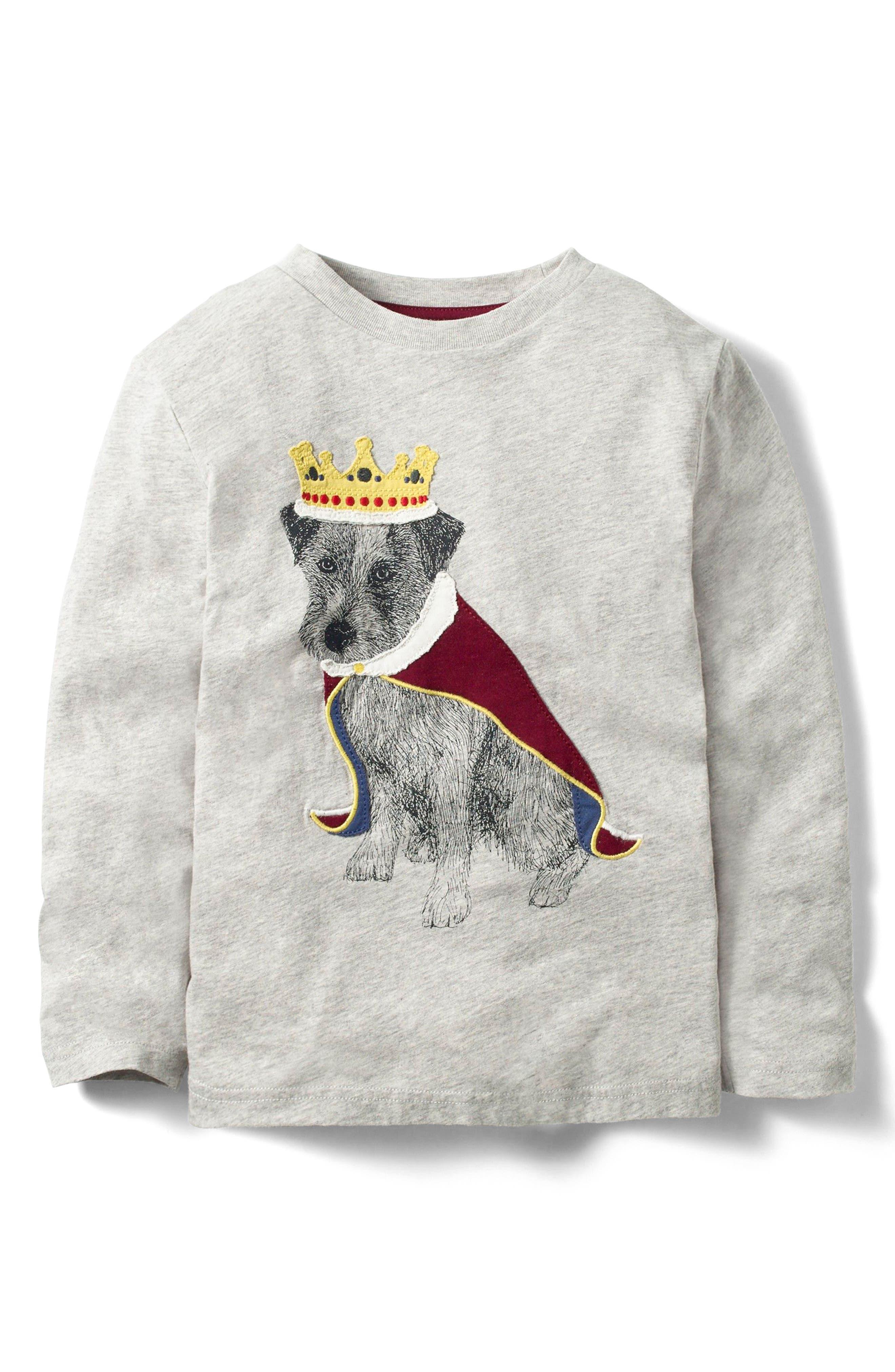 Mini Boden Animals Rule Long Sleeve T-Shirt (Toddler Boys, Little Boys & Big Boys)