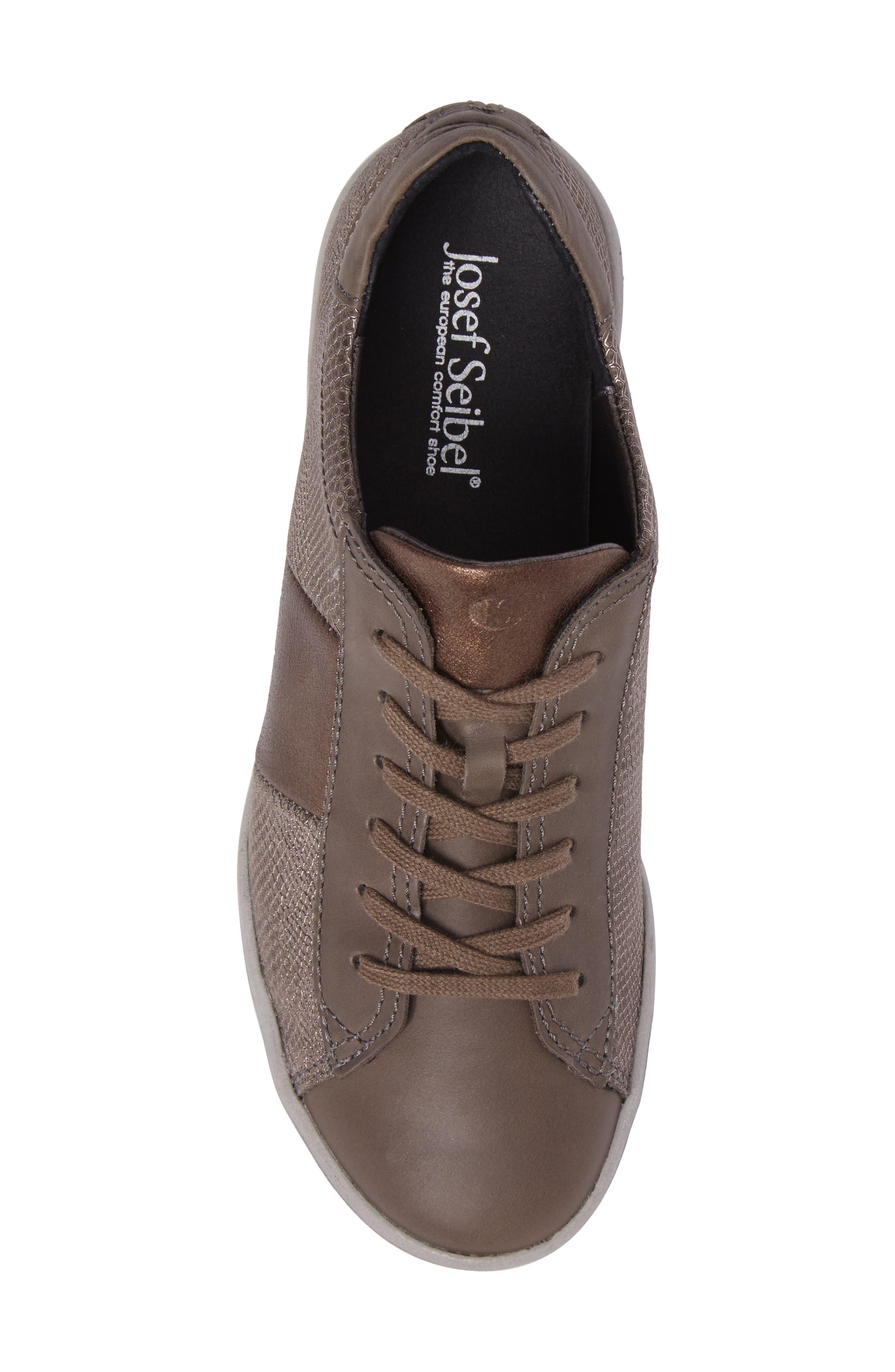 Sina 27 Sneaker,                             Alternate thumbnail 5, color,                             Asphalt/ Kombi Leather