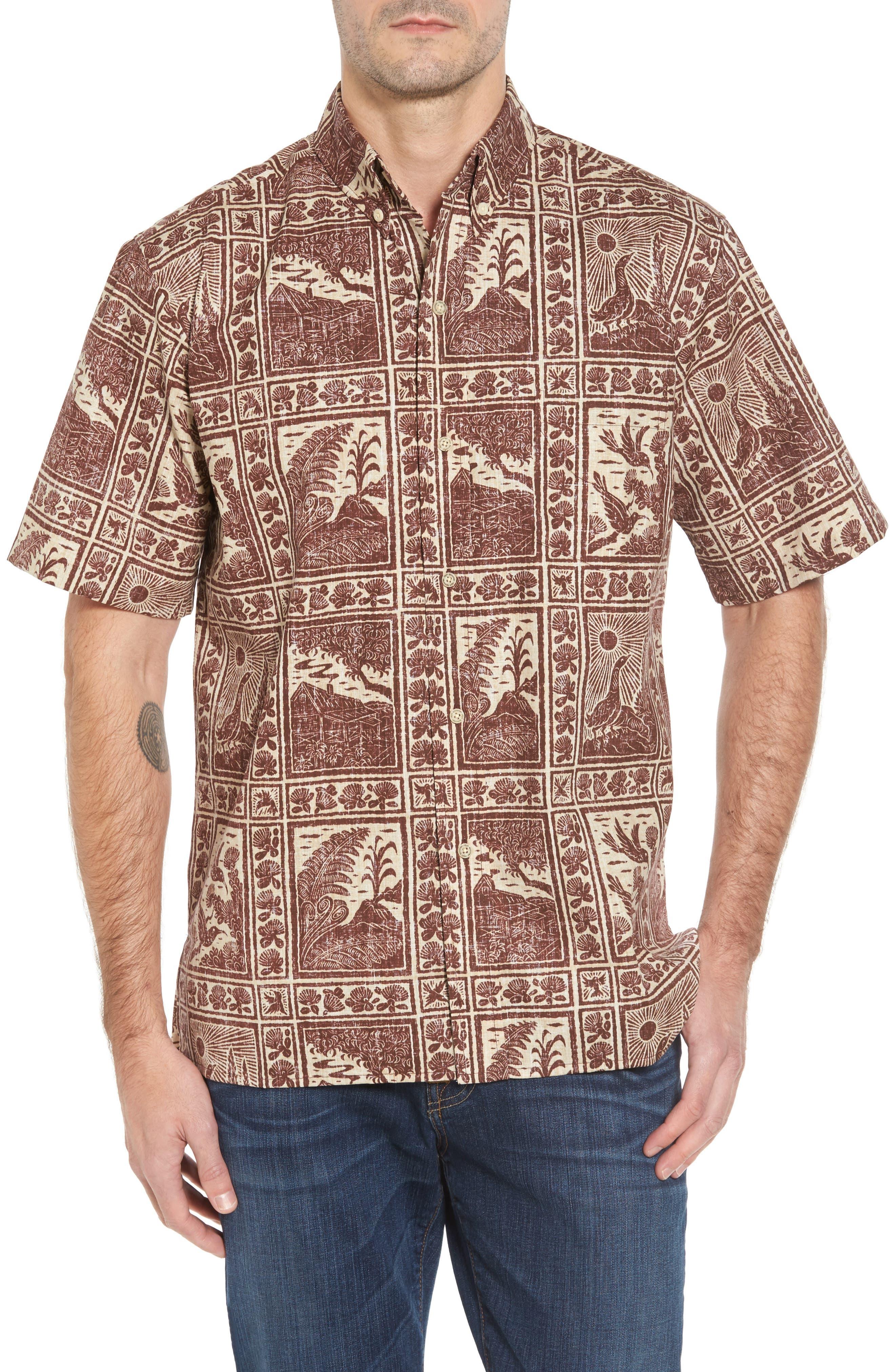 Volcano Park Classic Fit Sport Shirt,                         Main,                         color, Cocoa