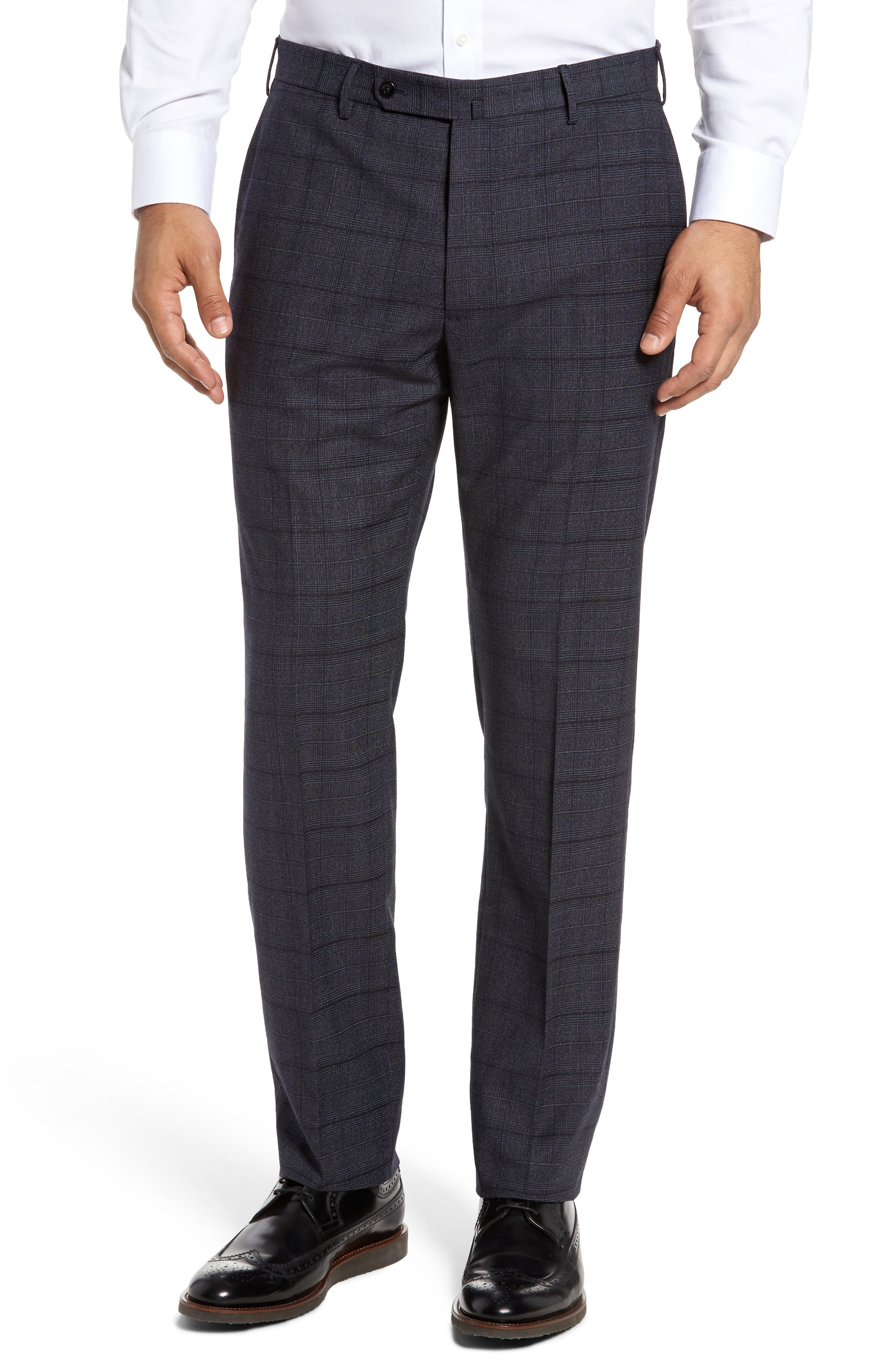 Alternate Image 1 Selected - Incotex Benson Flat Front Trousers
