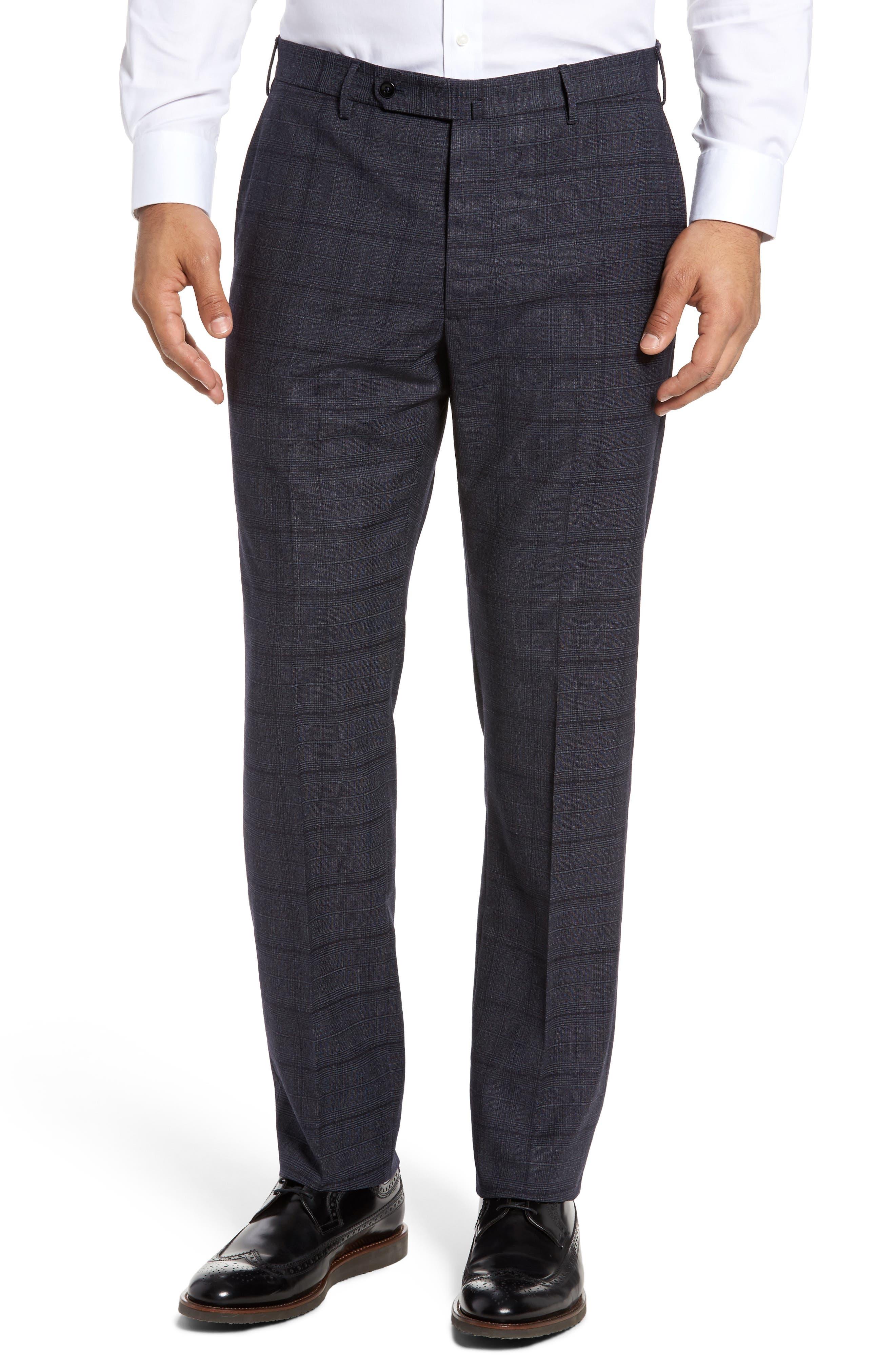 Benson Flat Front Trousers,                         Main,                         color, Dark Blue