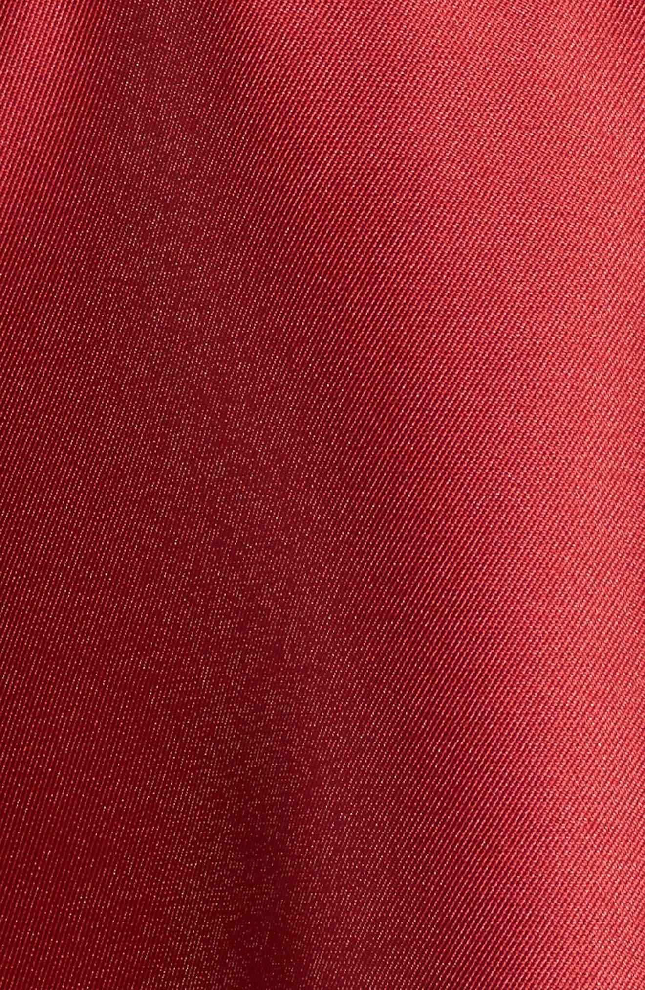 Mikado Ballgown,                             Alternate thumbnail 5, color,                             Cardinal