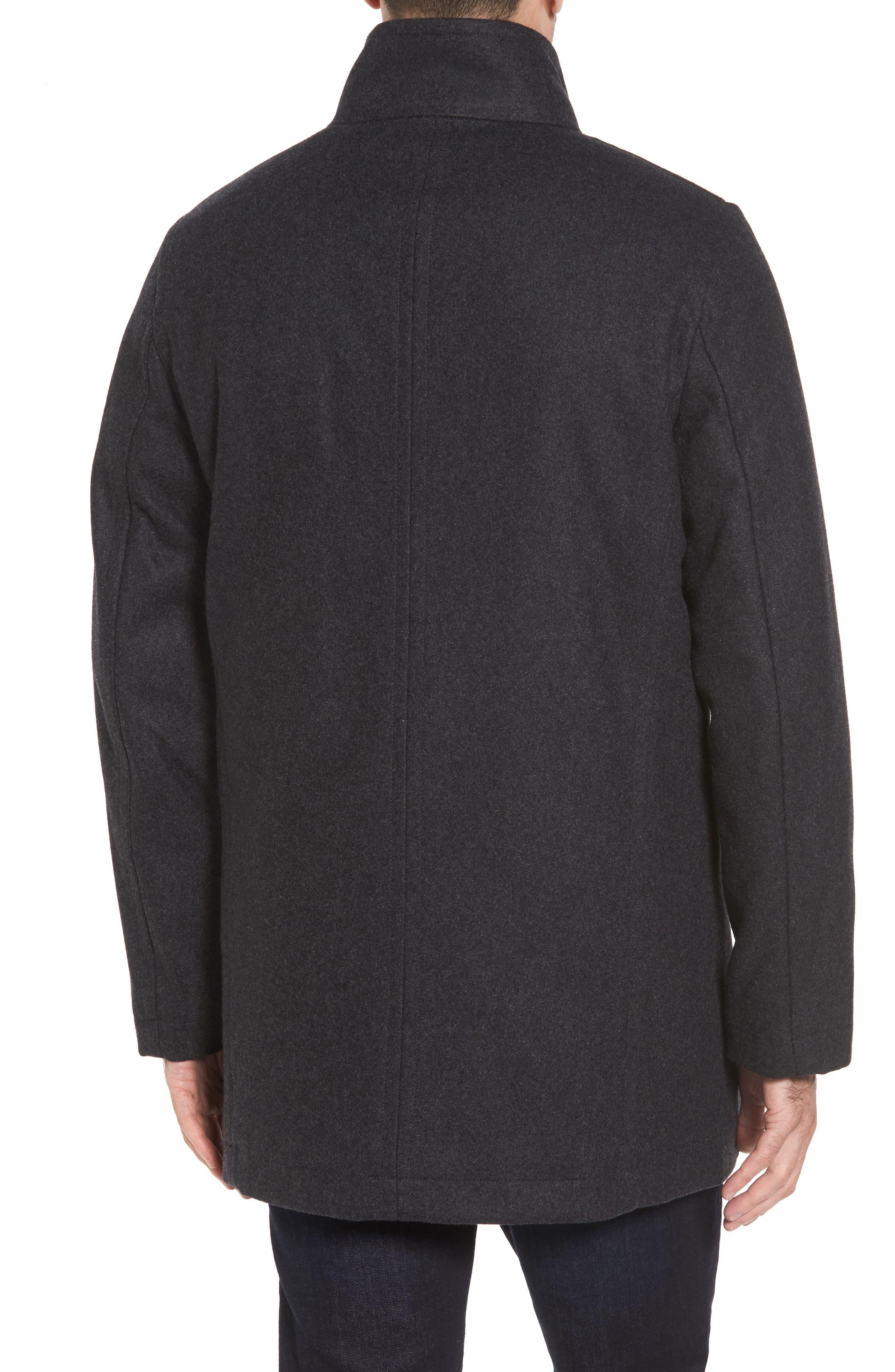 Alternate Image 2  - Cole Haan Melton Wool Blend Coat