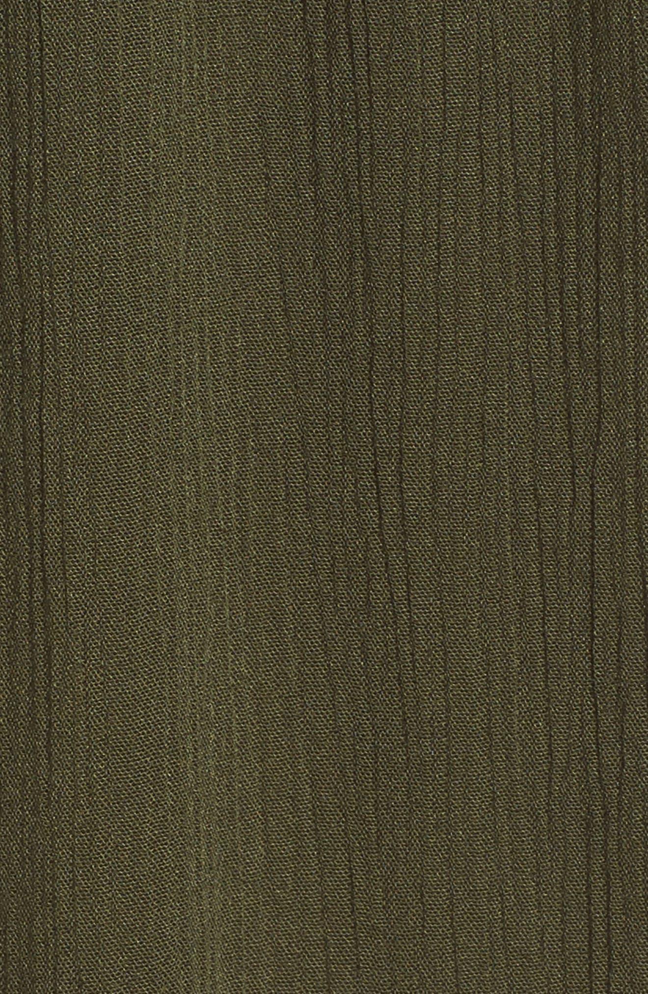 Southern Belle Off the Shoulder Cover-Up Dress,                             Alternate thumbnail 5, color,                             Bay Leaf