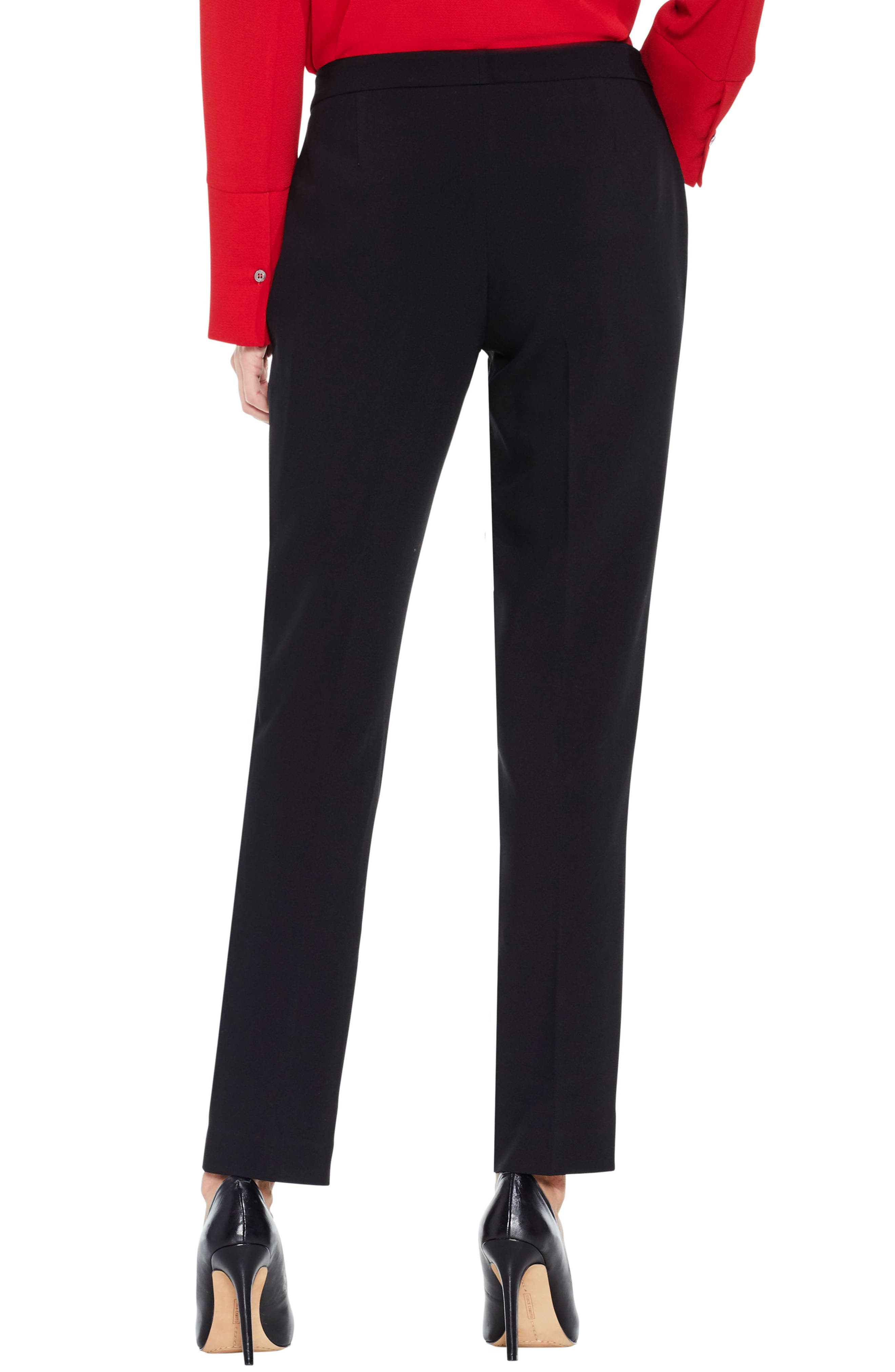 Stretch Suiting Skinny Pants,                             Alternate thumbnail 3, color,                             Rich Black