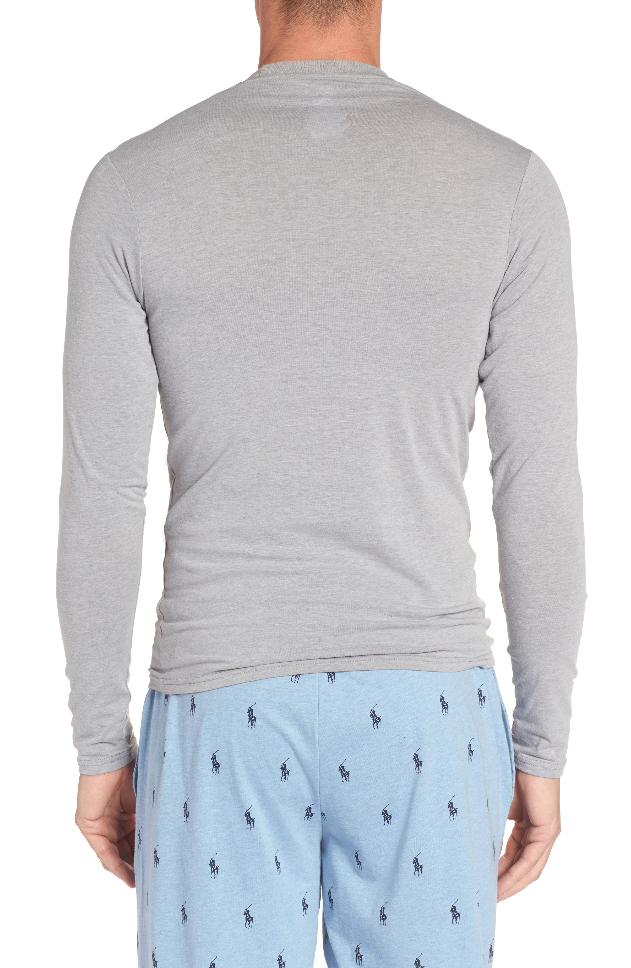 Long Sleeve T-Shirt,                             Alternate thumbnail 2, color,                             Andover Grey