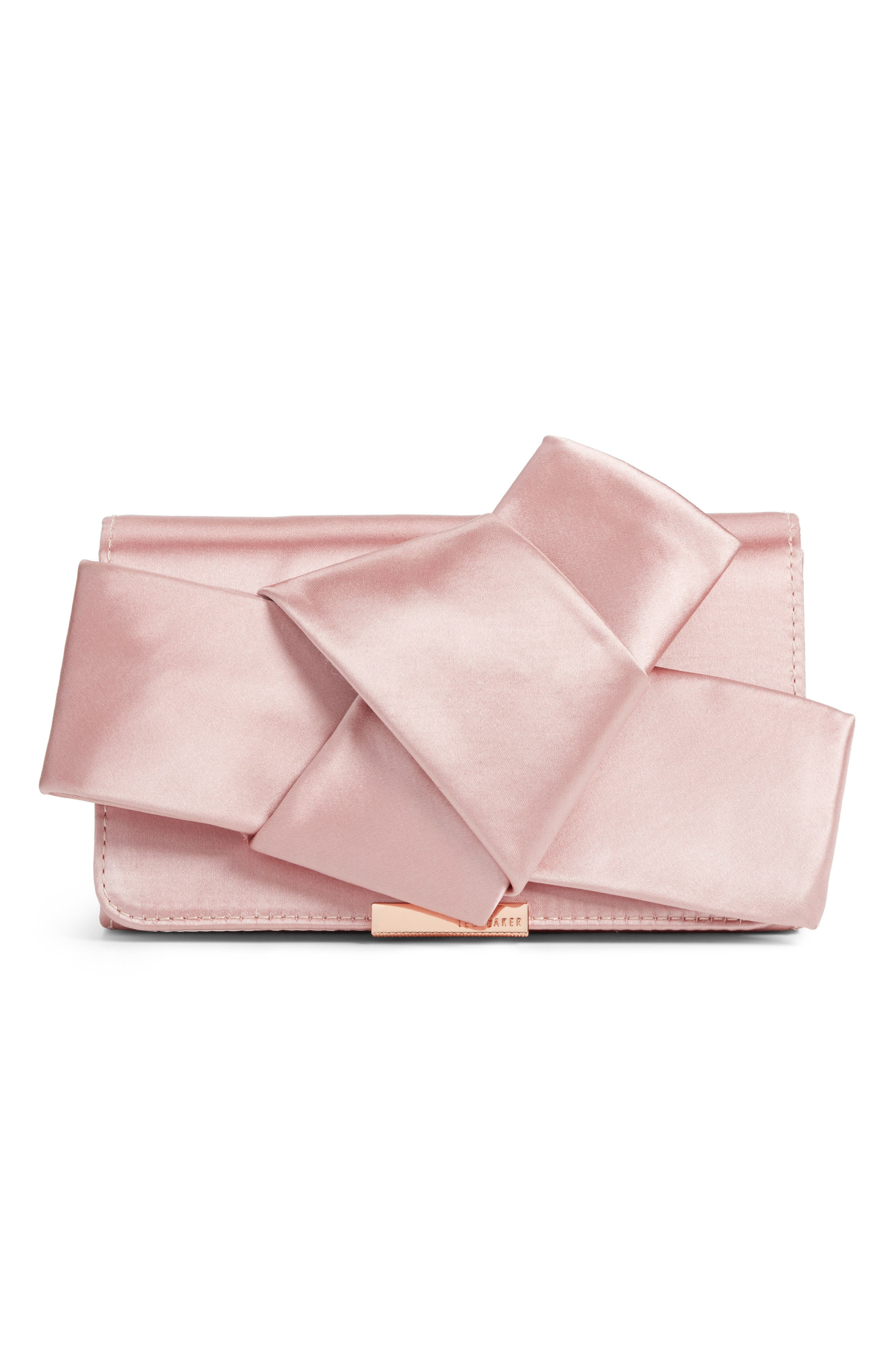 Ted Baker London Fefee Satin Knotted Bow Clutch