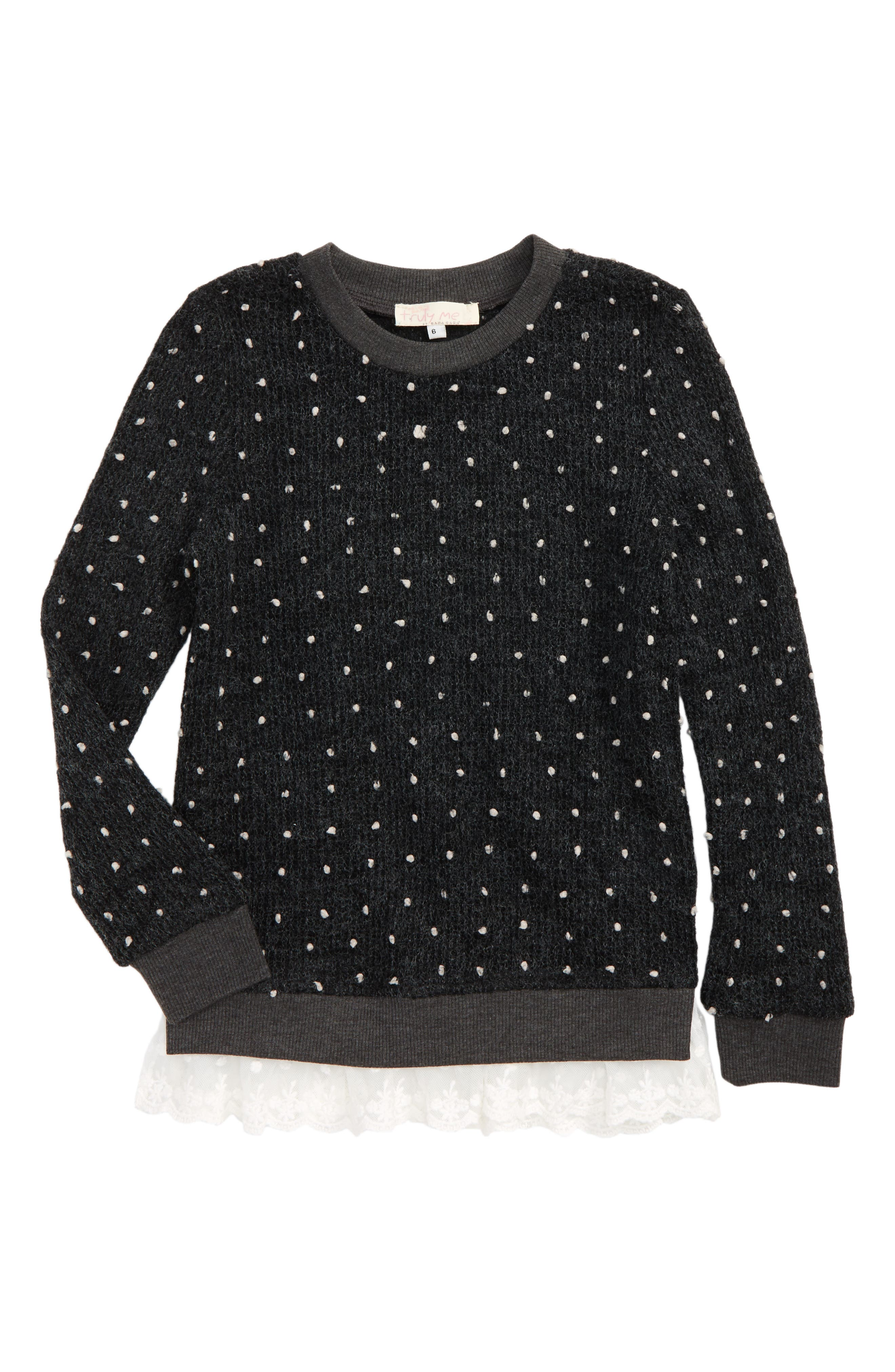 Truly Me Nubby Sweater (Toddler Girls & Little Girls)