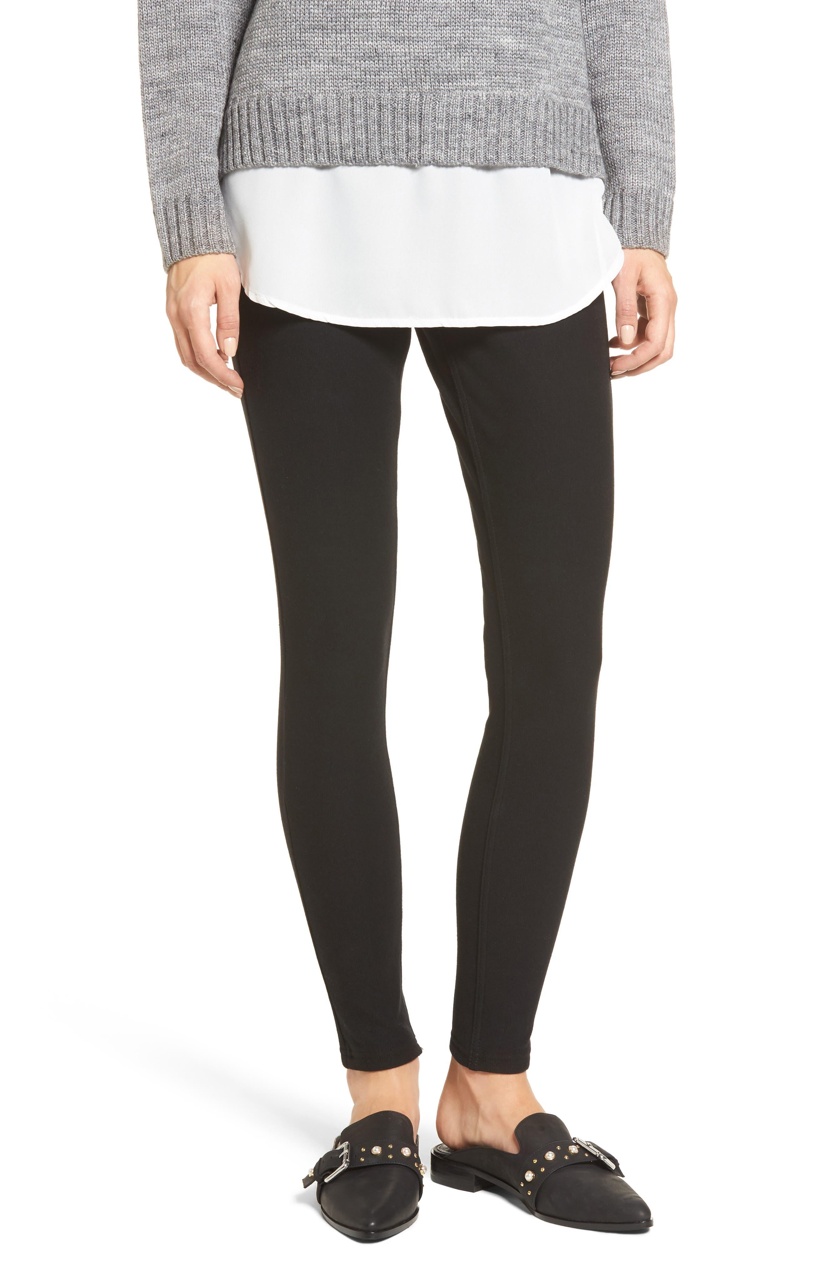 Fleece Lined Leggings,                         Main,                         color, Black