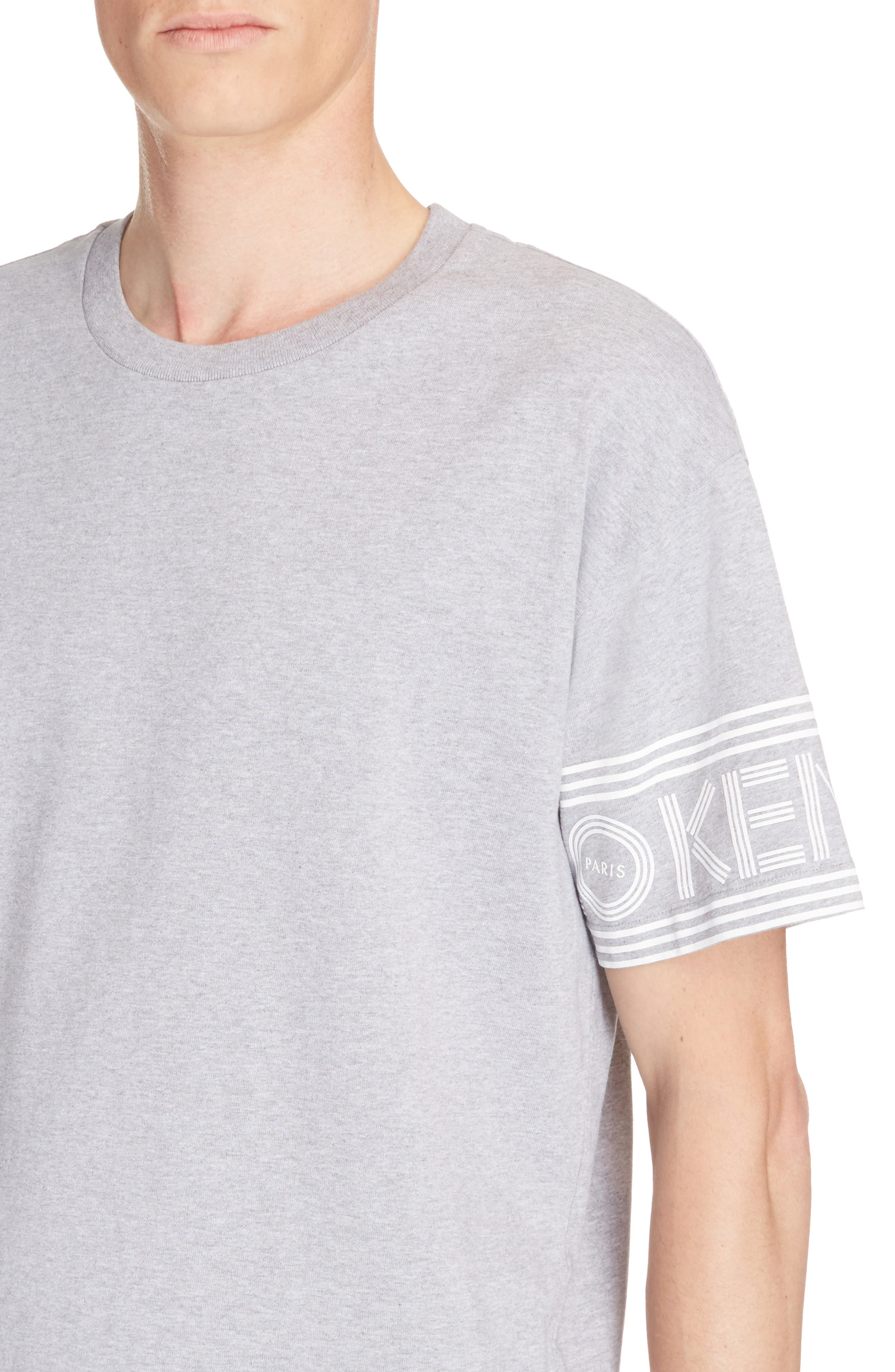 Graphic T-Shirt,                             Alternate thumbnail 4, color,                             Dove Grey