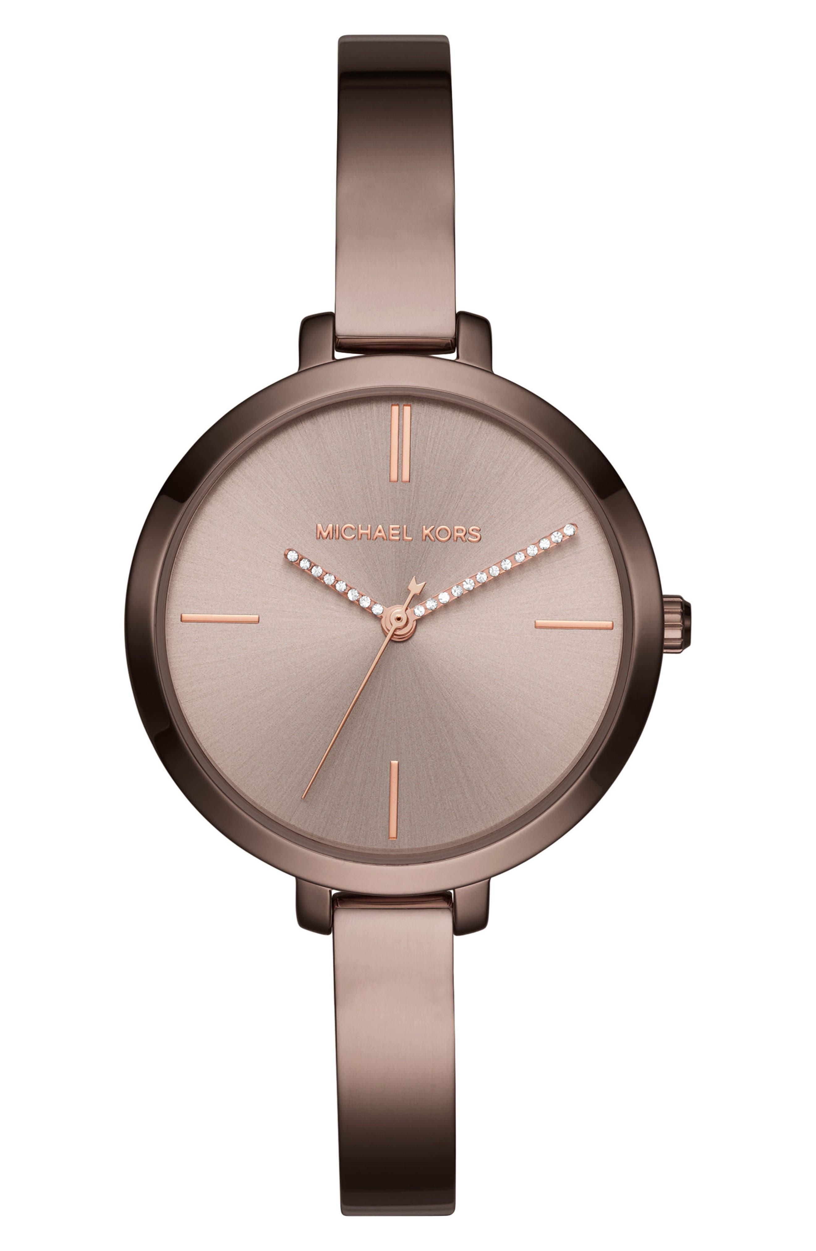 Main Image - Michael Kors Jaryn Crystal Accent Bangle Watch, 36mm