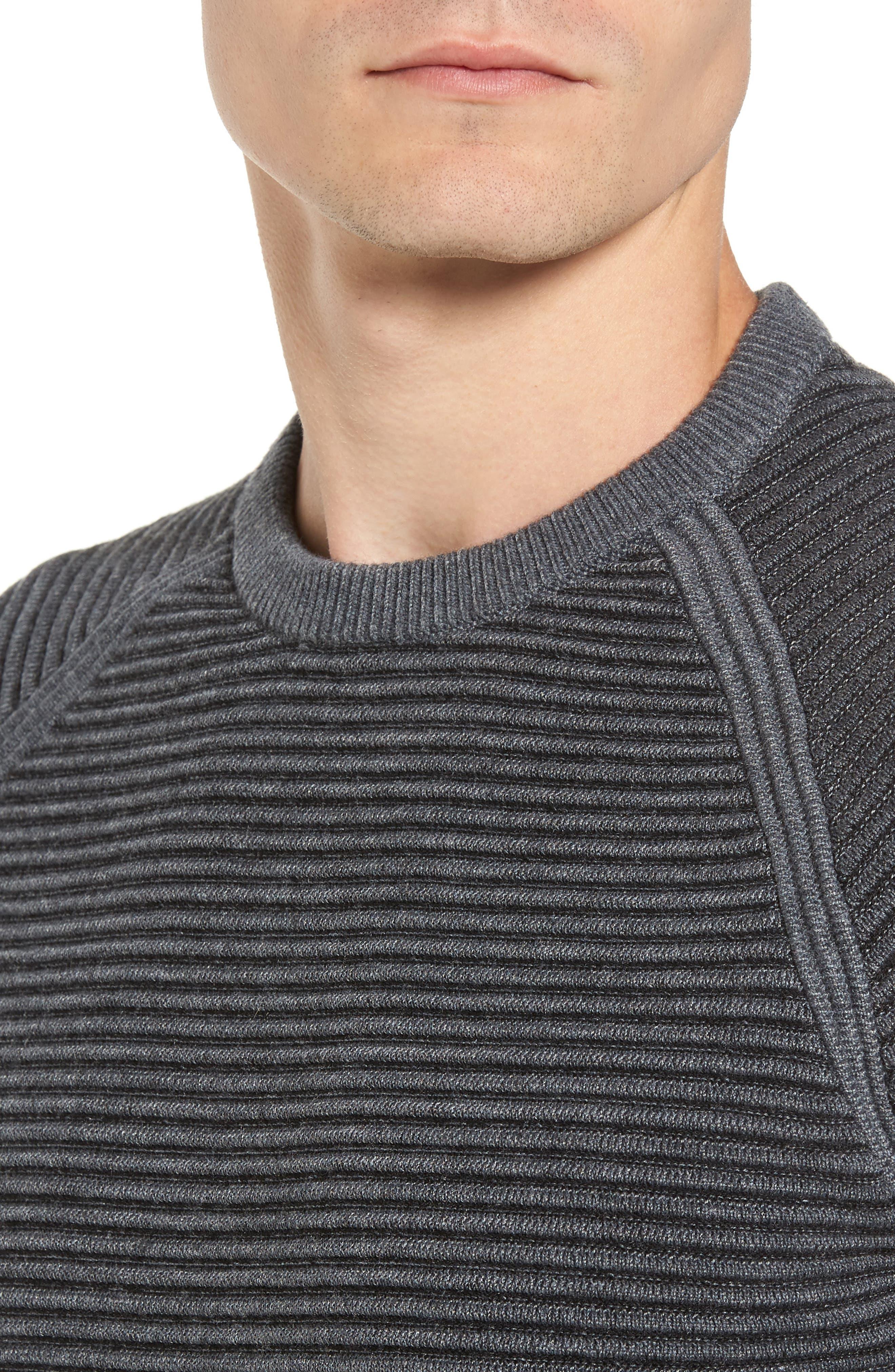Alternate Image 4  - Ted Baker London Cashoo Slim Fit Ribbed Sweatshirt