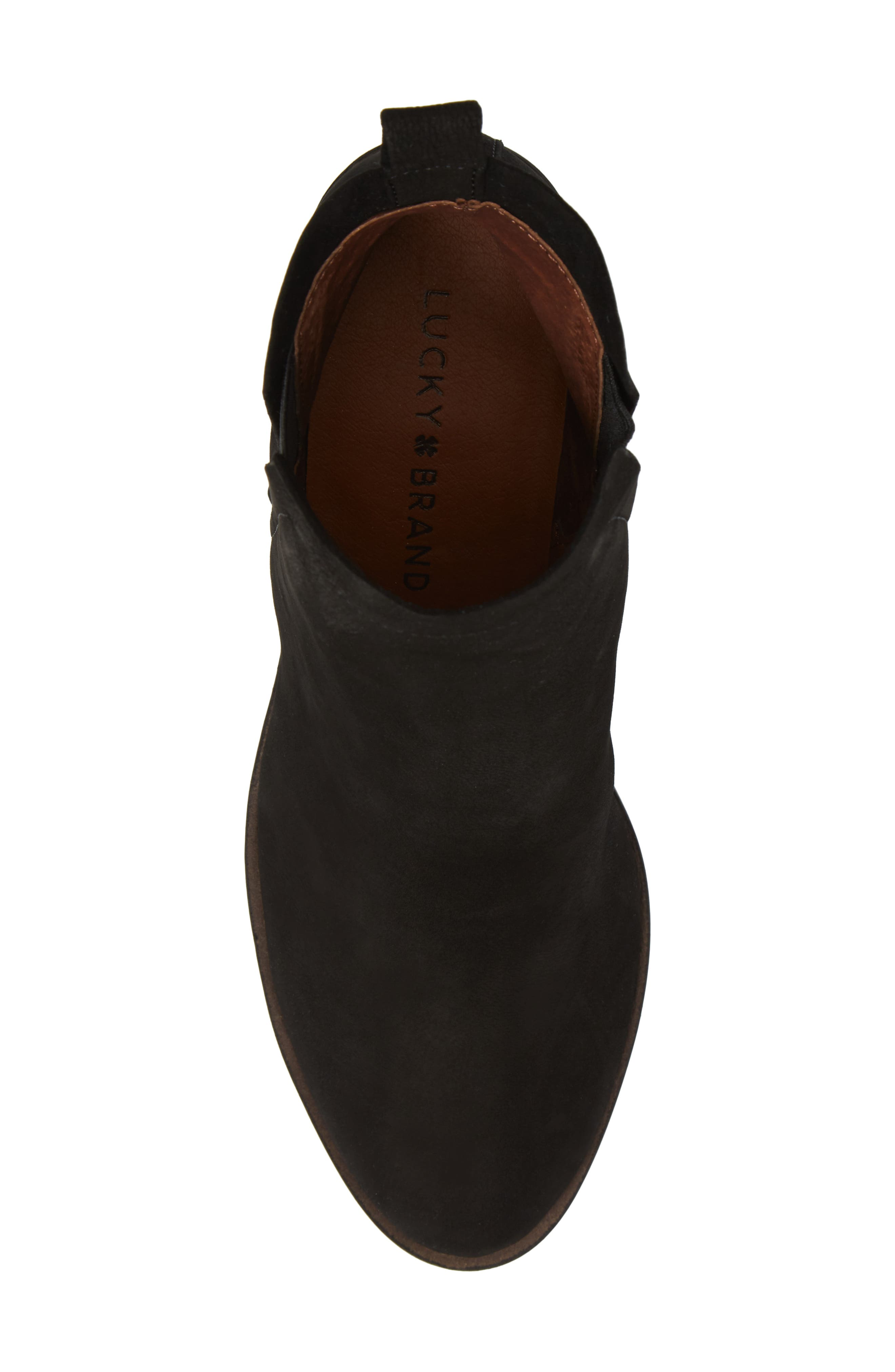 Jana Bootie,                             Alternate thumbnail 5, color,                             Black Leather