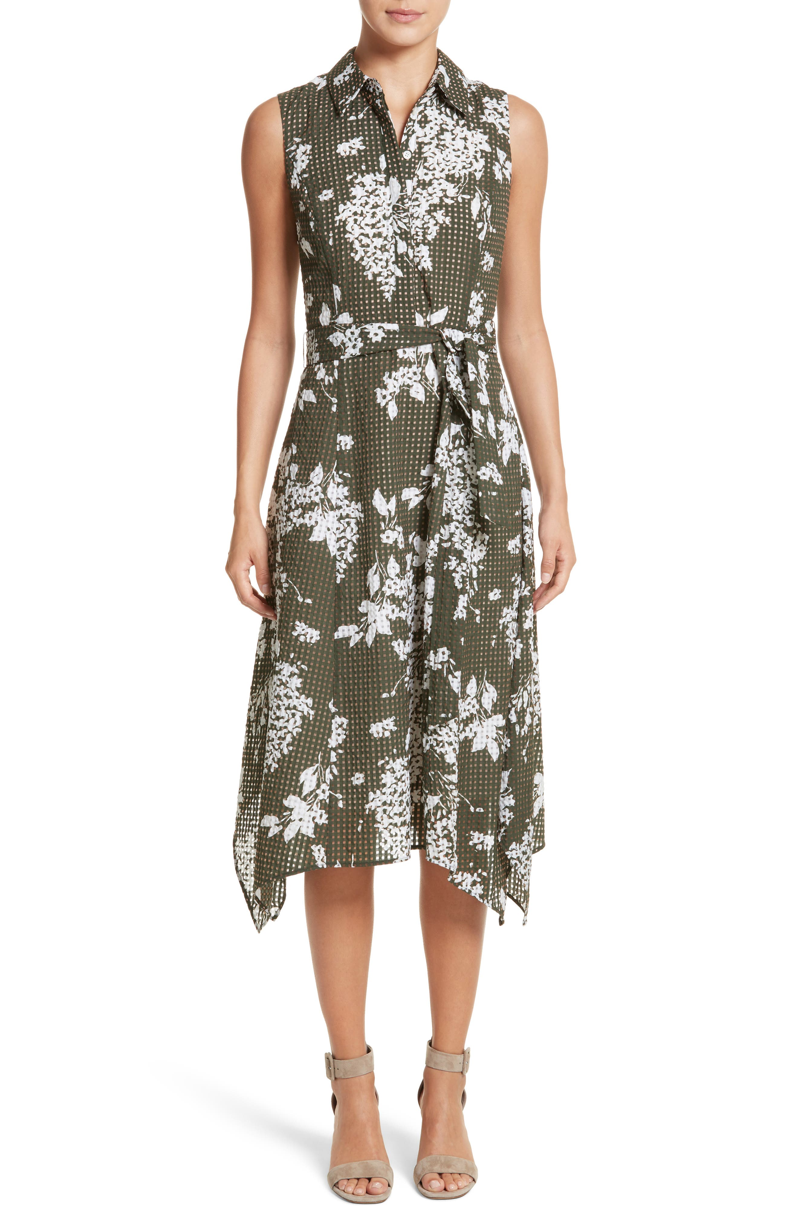 Alternate Image 1 Selected - Lafayette 148 New York Moxie Sleeveless Shirtdress