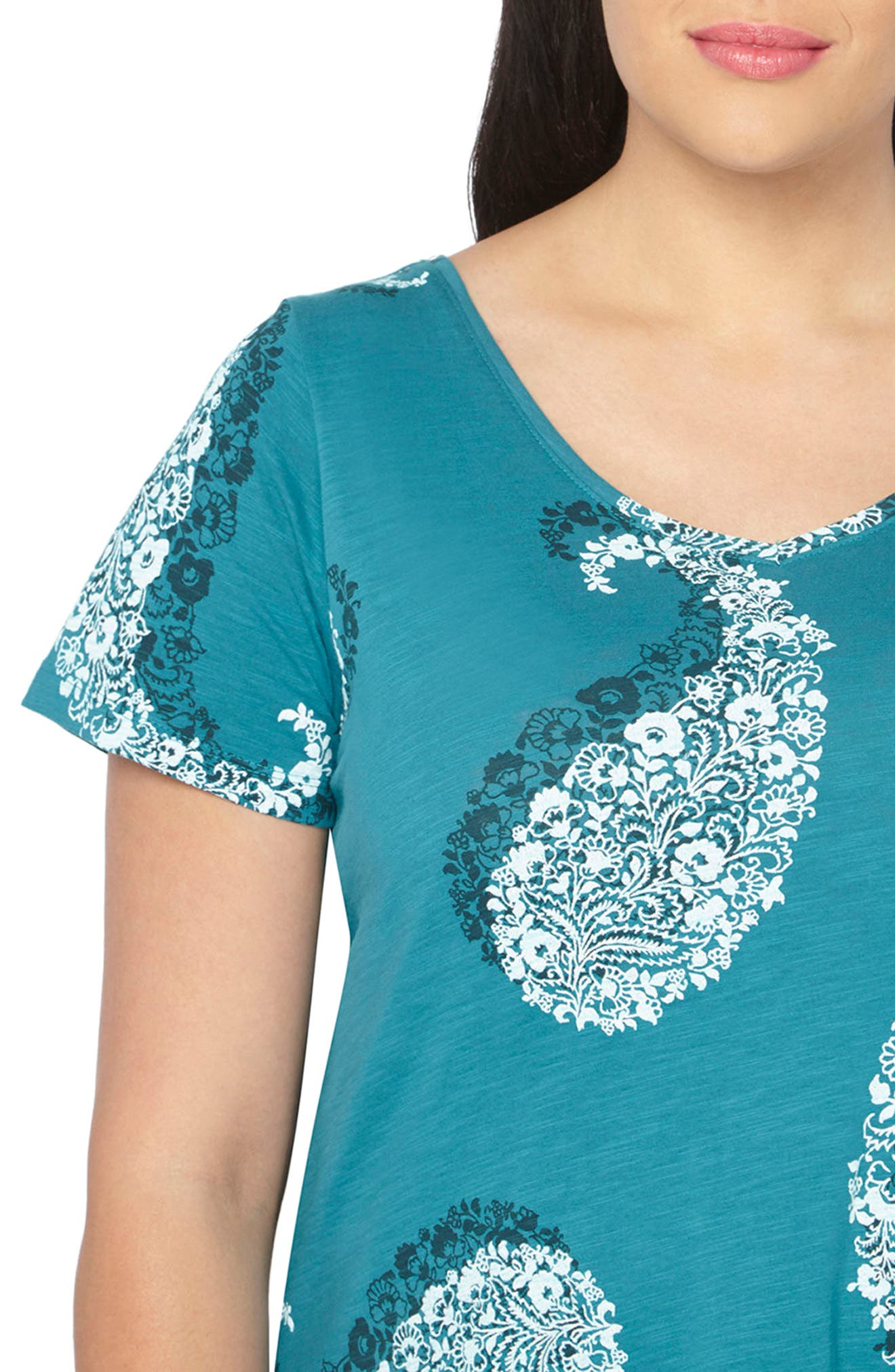 Alternate Image 3  - Evan Paisley Short Sleeve Shirt (Plus Size)