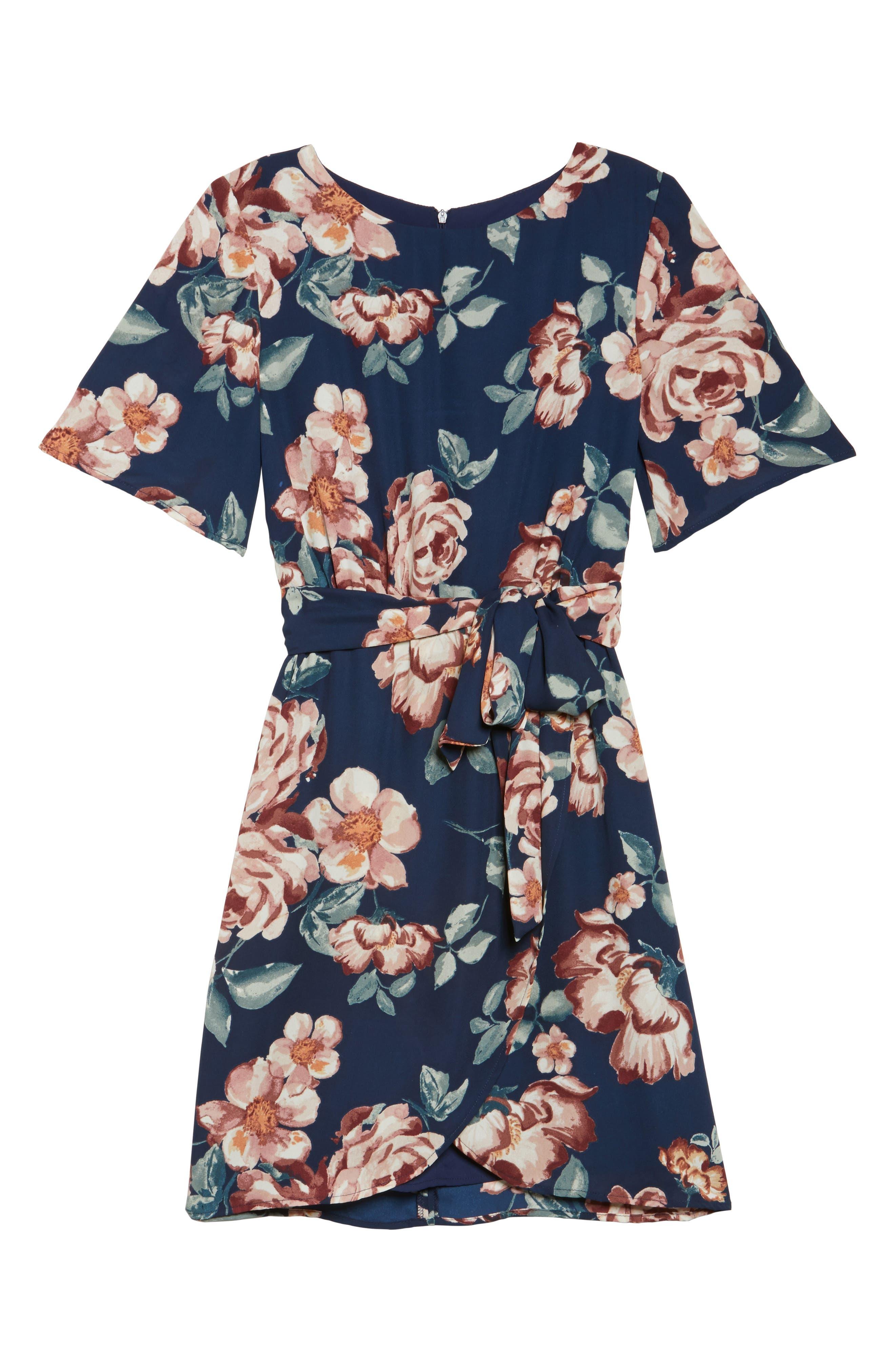 Alternate Image 6  - Charles Henry Flutter Sleeve Shift Dress (Regular & Petite)