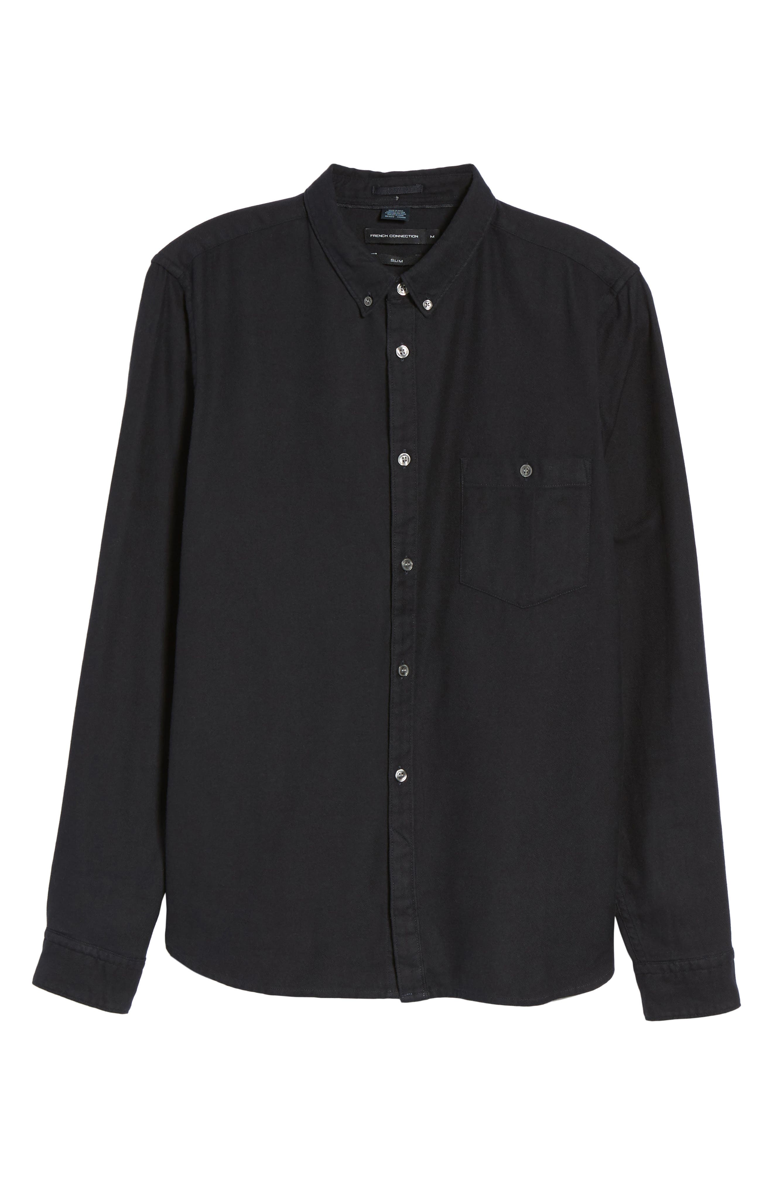 Alternate Image 6  - French Connection Regular Fit Flannel Sport Shirt
