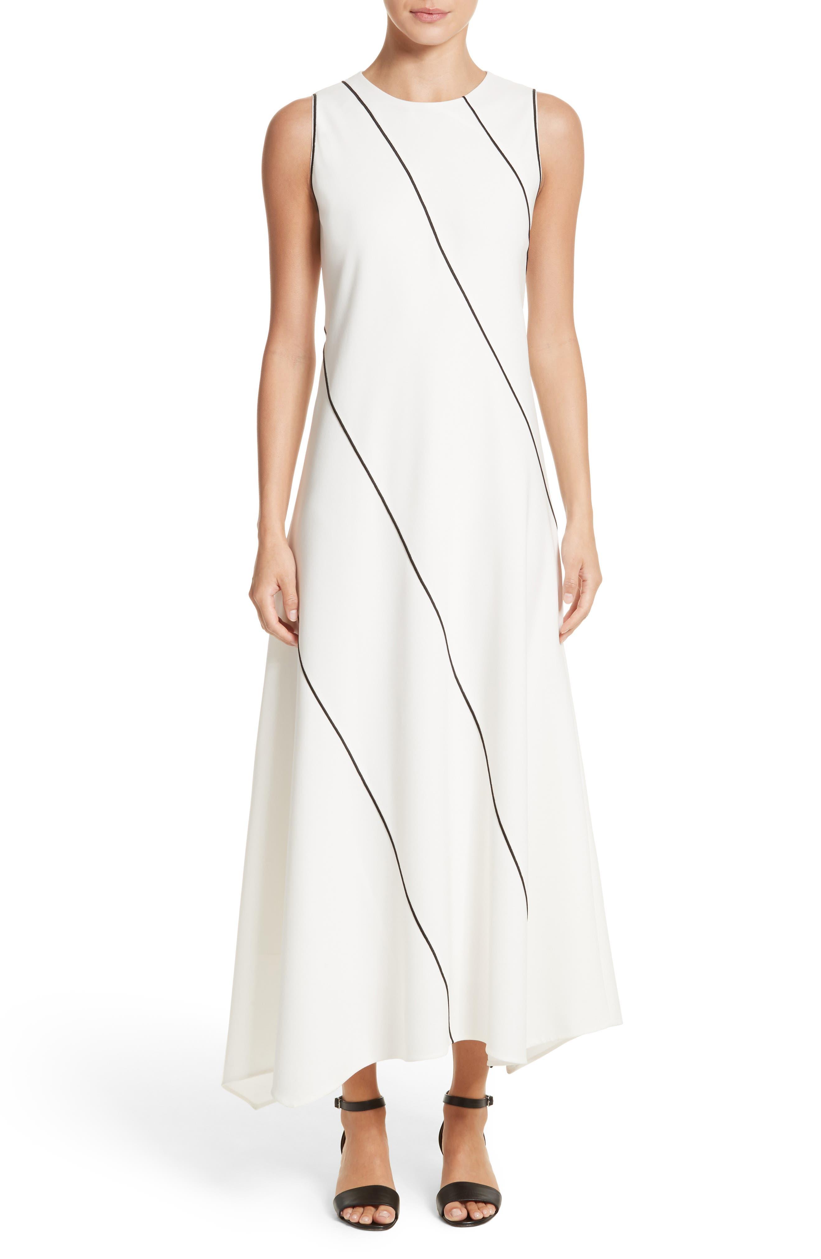 Main Image - Lafayette 148 New York Madelia Velvet & Satin Midi Dress