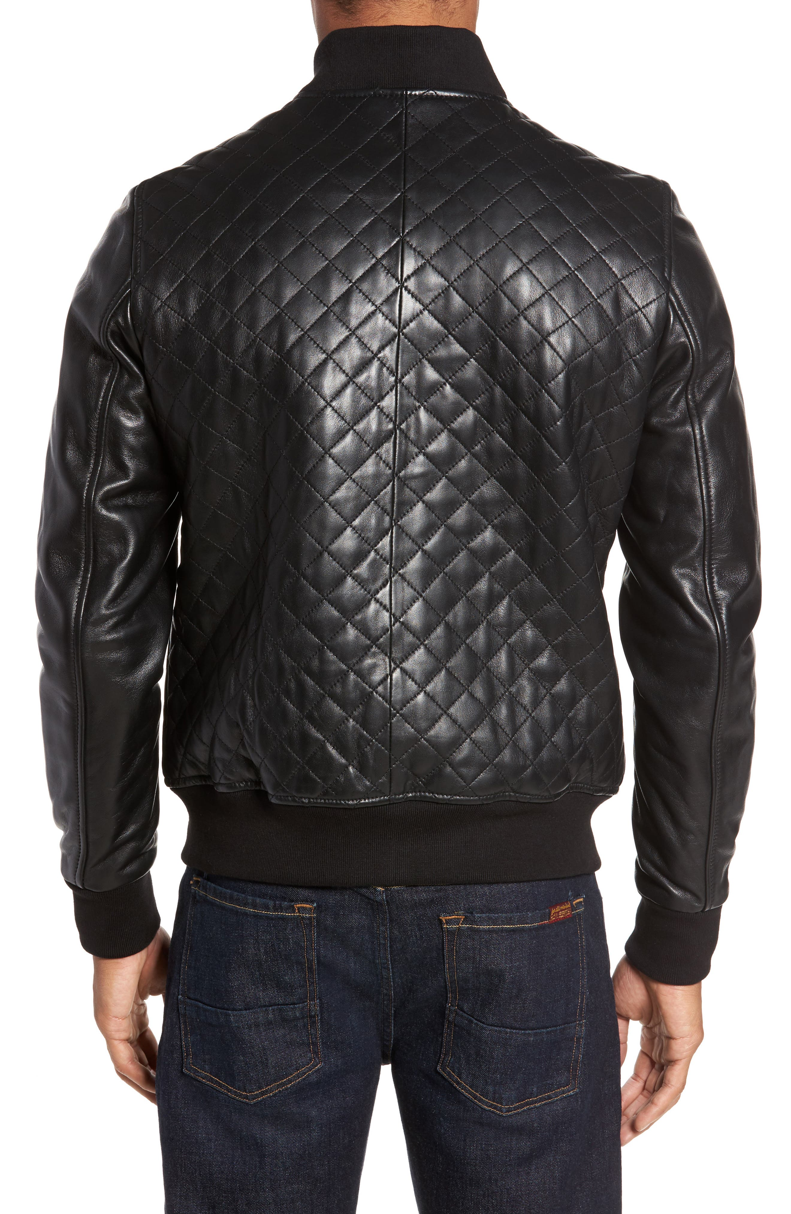 Alternate Image 2  - LAMARQUE Quilted Leather Baseball Jacket