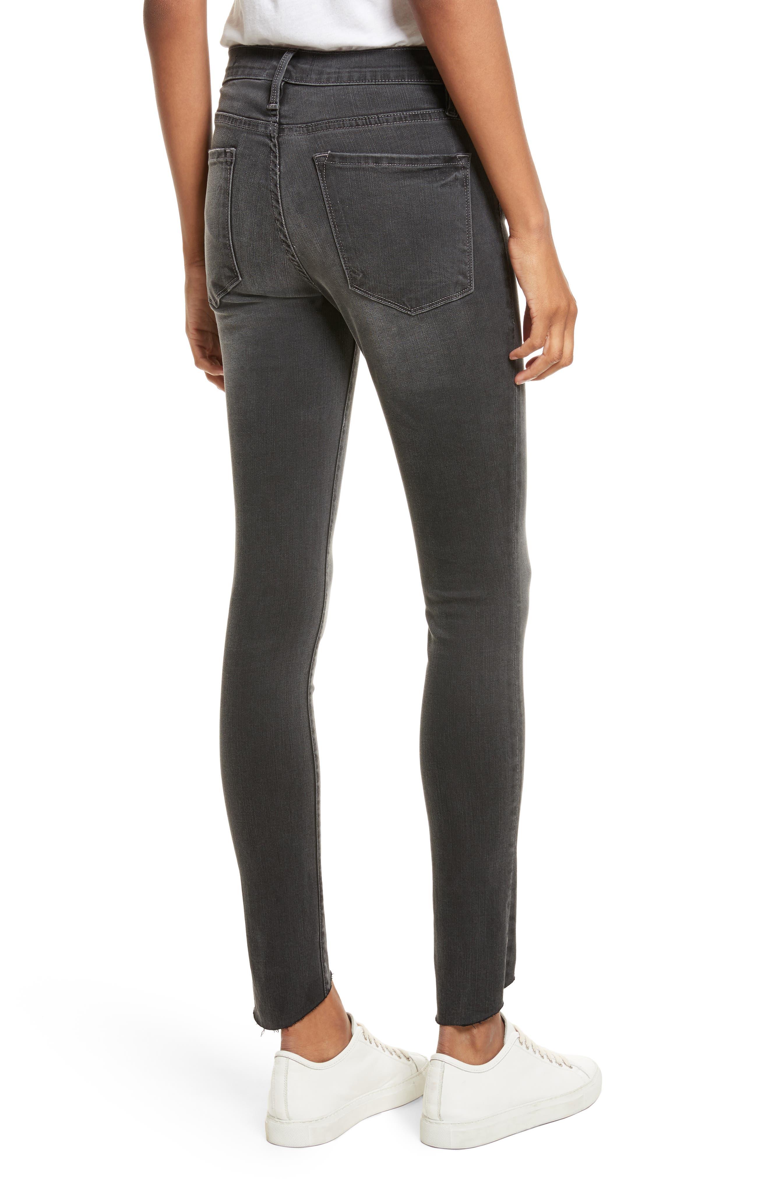 Le Skinny de Jeanne Ankle Jeans,                             Alternate thumbnail 2, color,                             Harlow