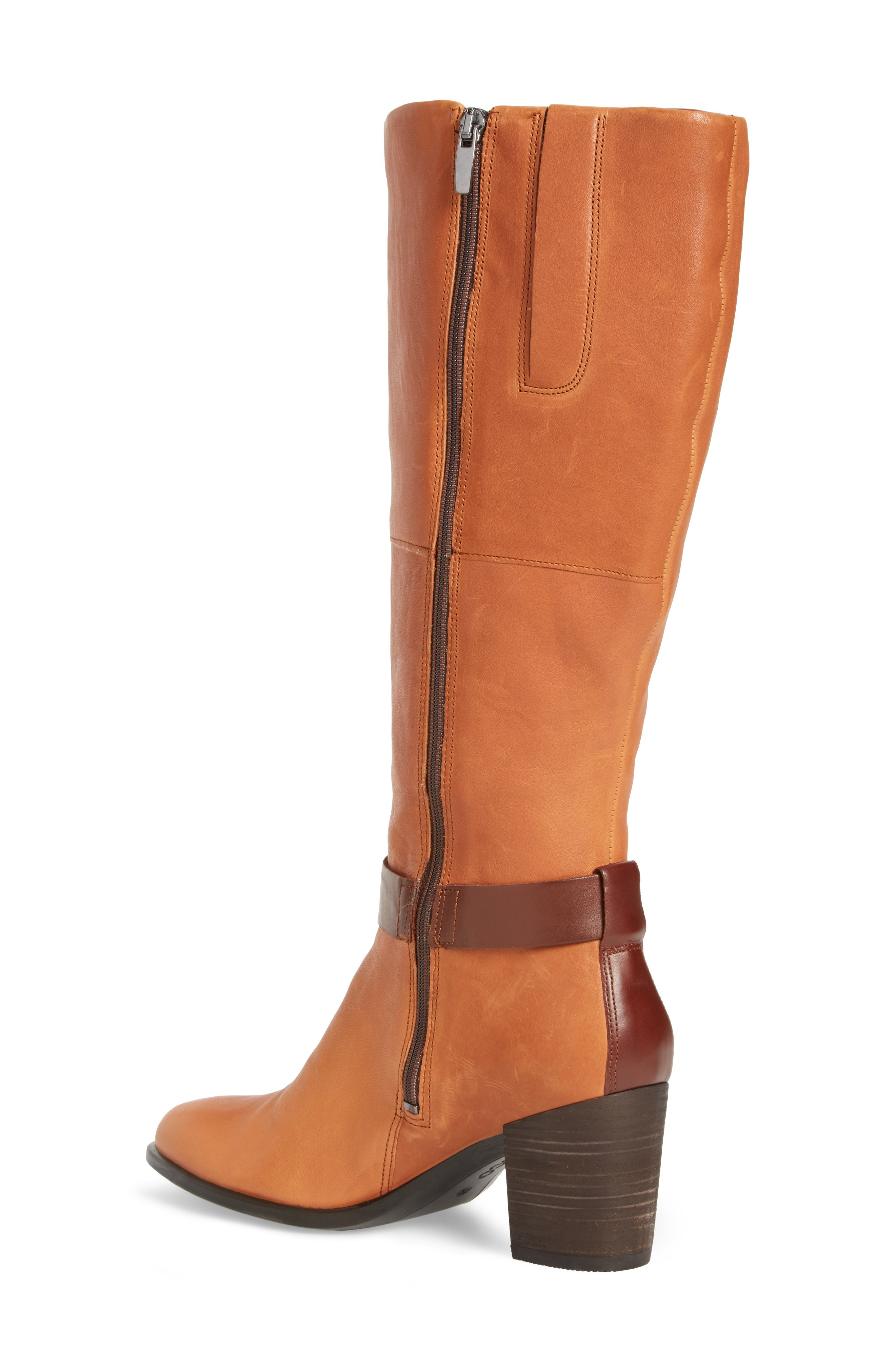 Shape 55 Tall Boot,                             Alternate thumbnail 2, color,                             Cognac Leather