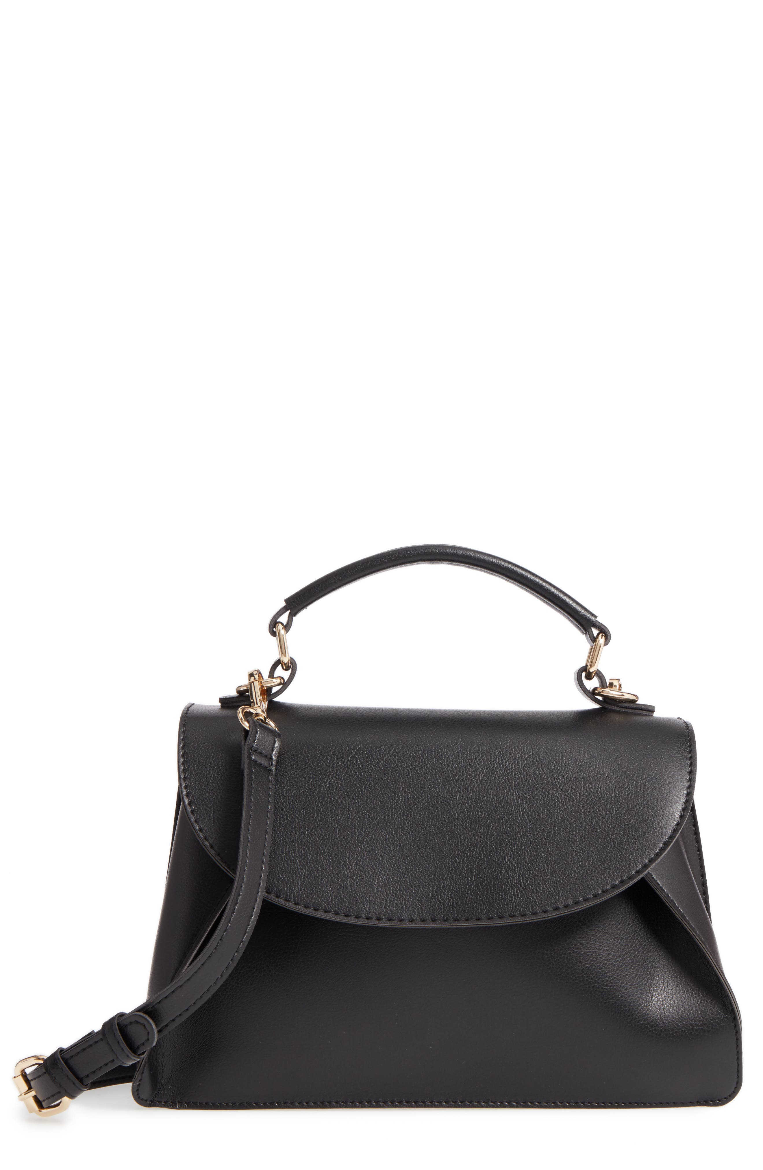 Sole Society Izzy Faux Leather Top Handle Satchel