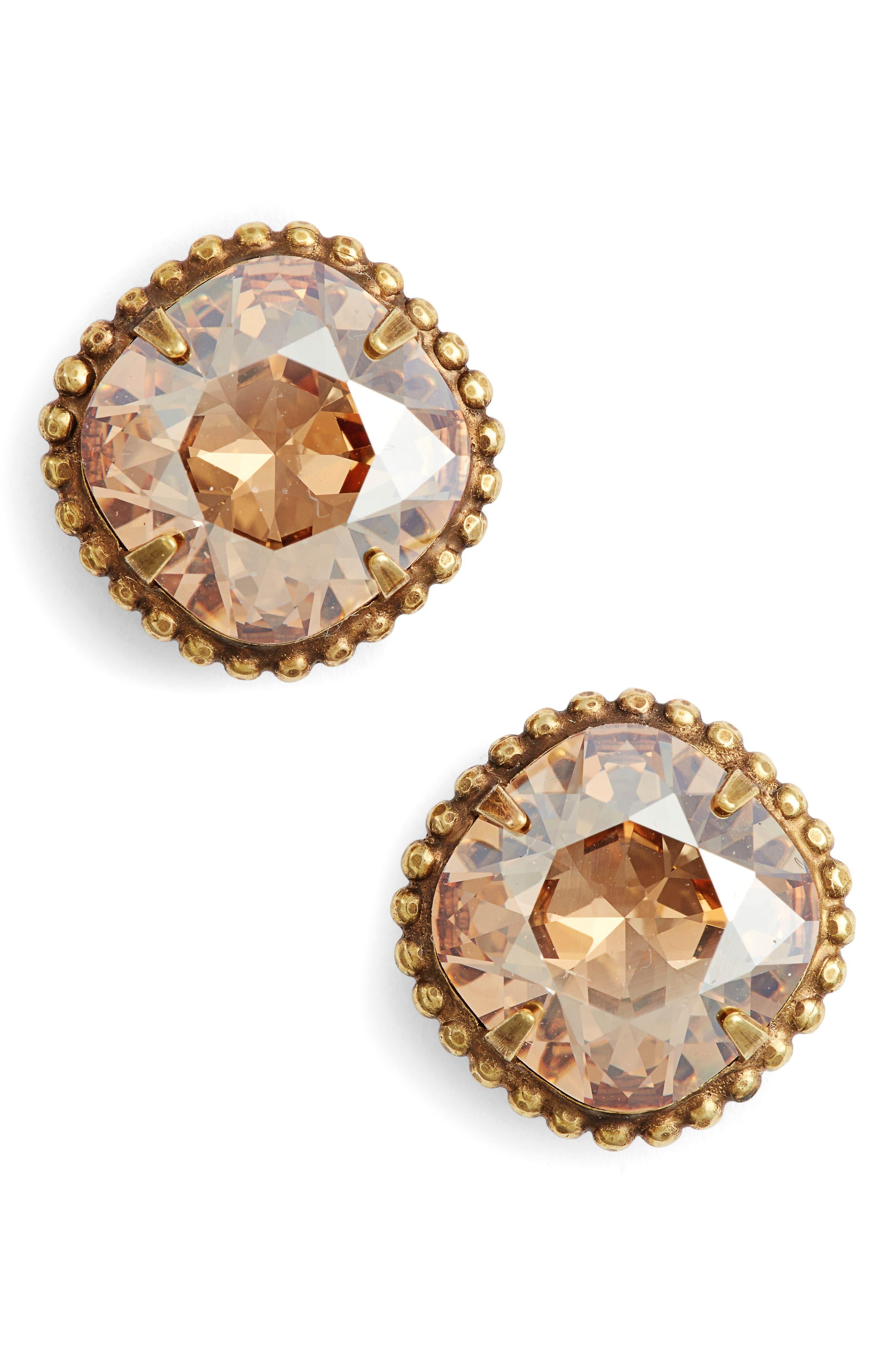 Main Image - Sorrelli Cushion Cut Solitaire Stud Earrings