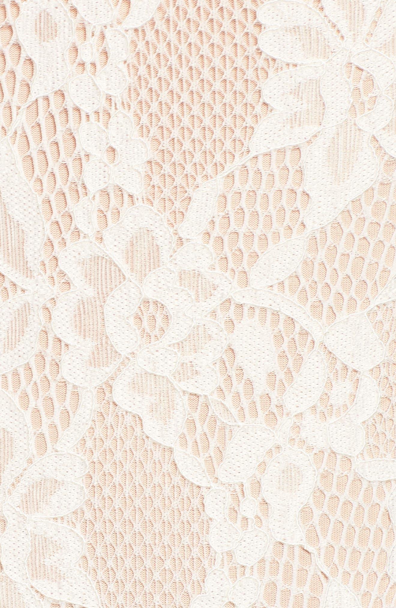 Lace Thong Bodysuit,                             Alternate thumbnail 5, color,                             Ivory
