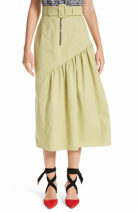 Rejina Pyo Belted High Waist Ruffle Skirt Best Reviews