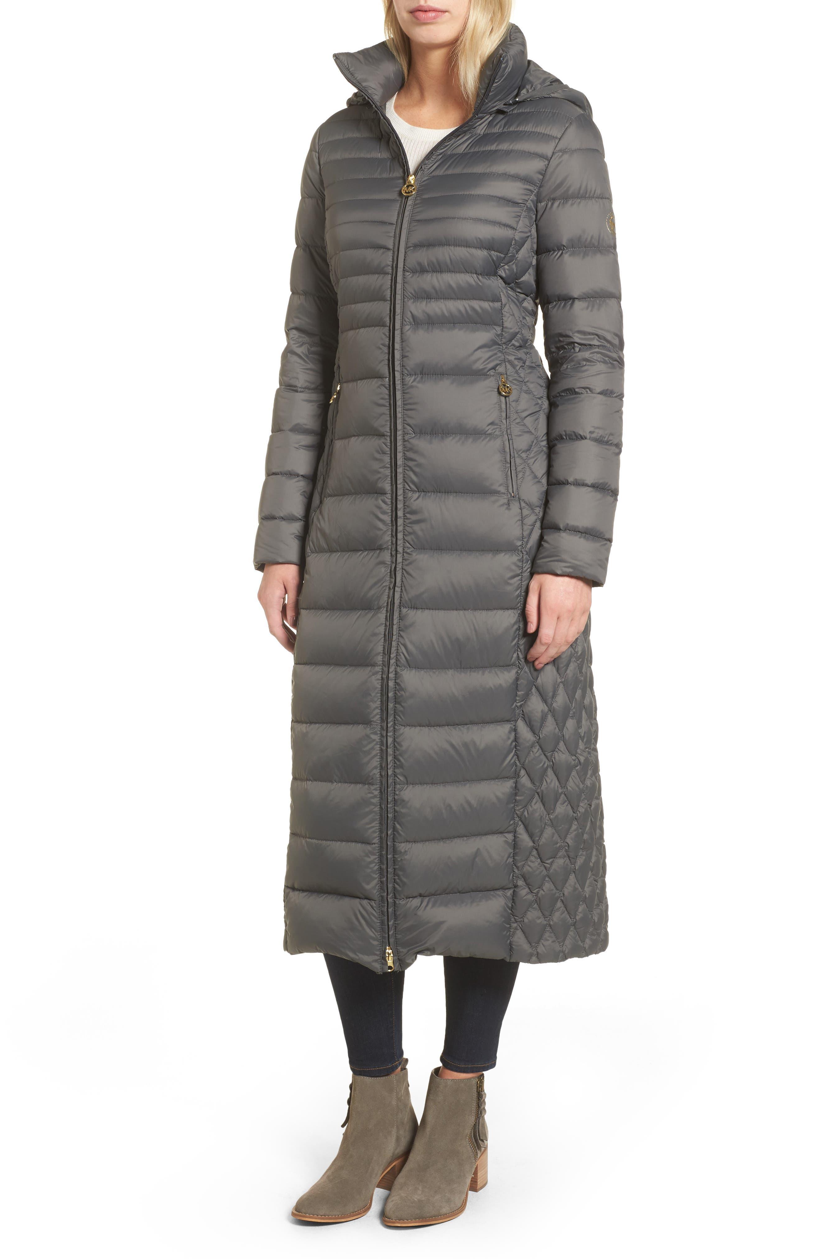 MICHAEL Michael Kors Long Packable Puffer Coat