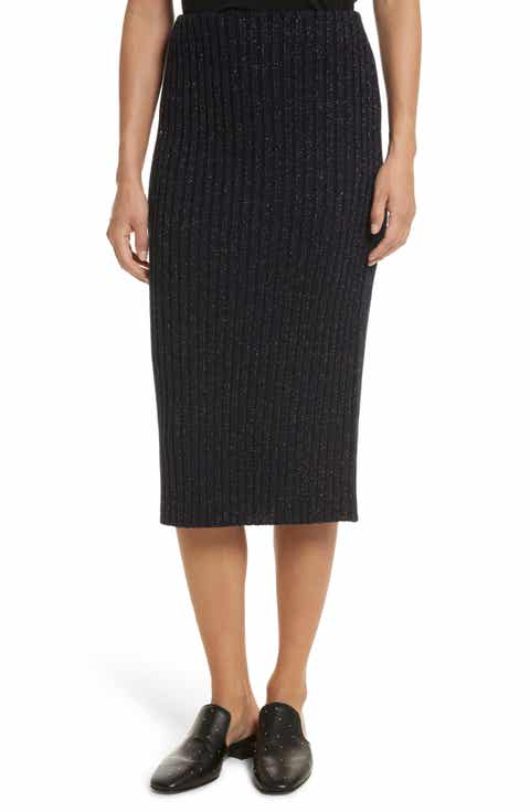 rag & bone Leyton Metallic Rib Knit Skirt