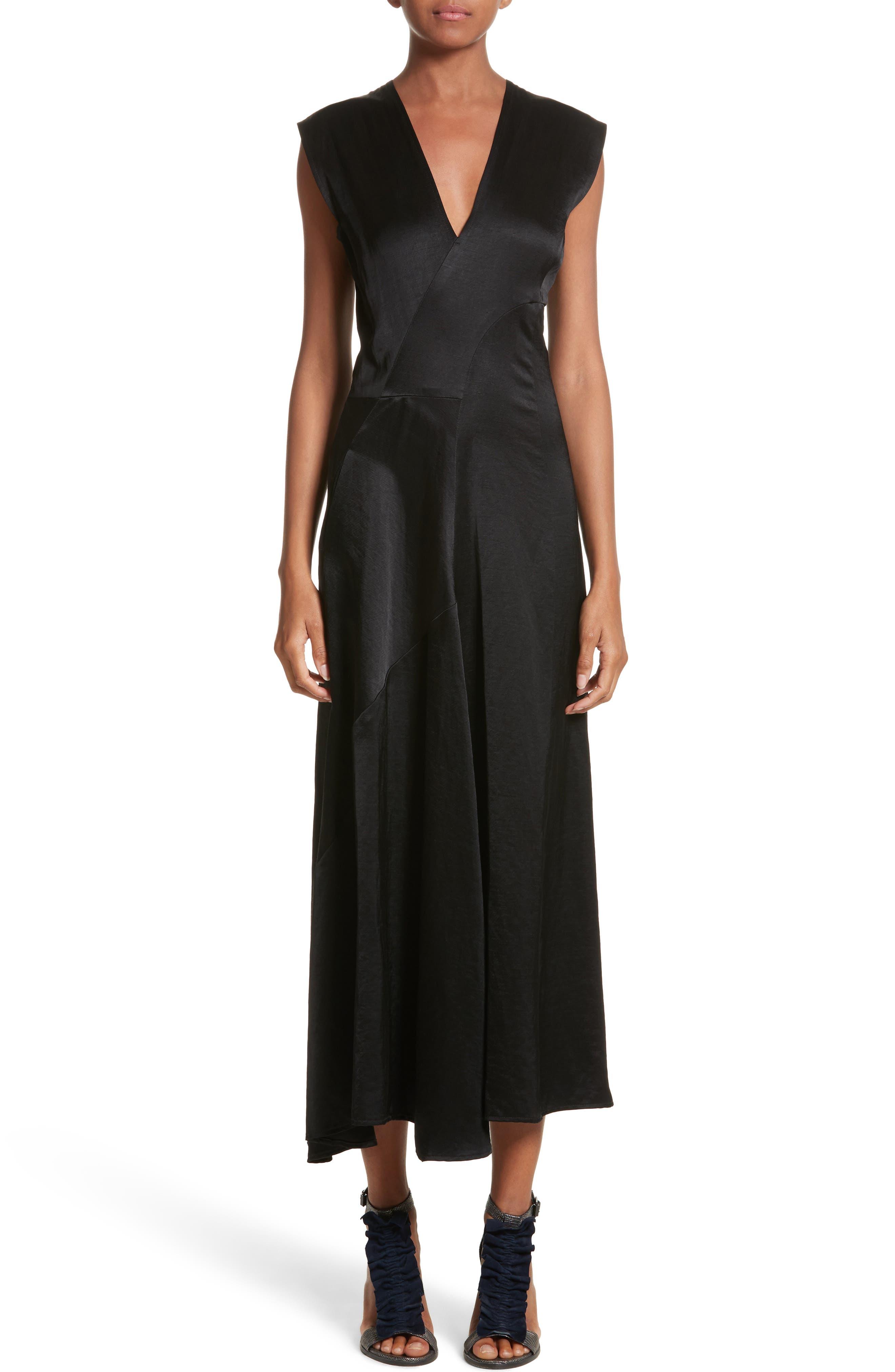 Eve Mosa Midi Dress,                         Main,                         color, Black
