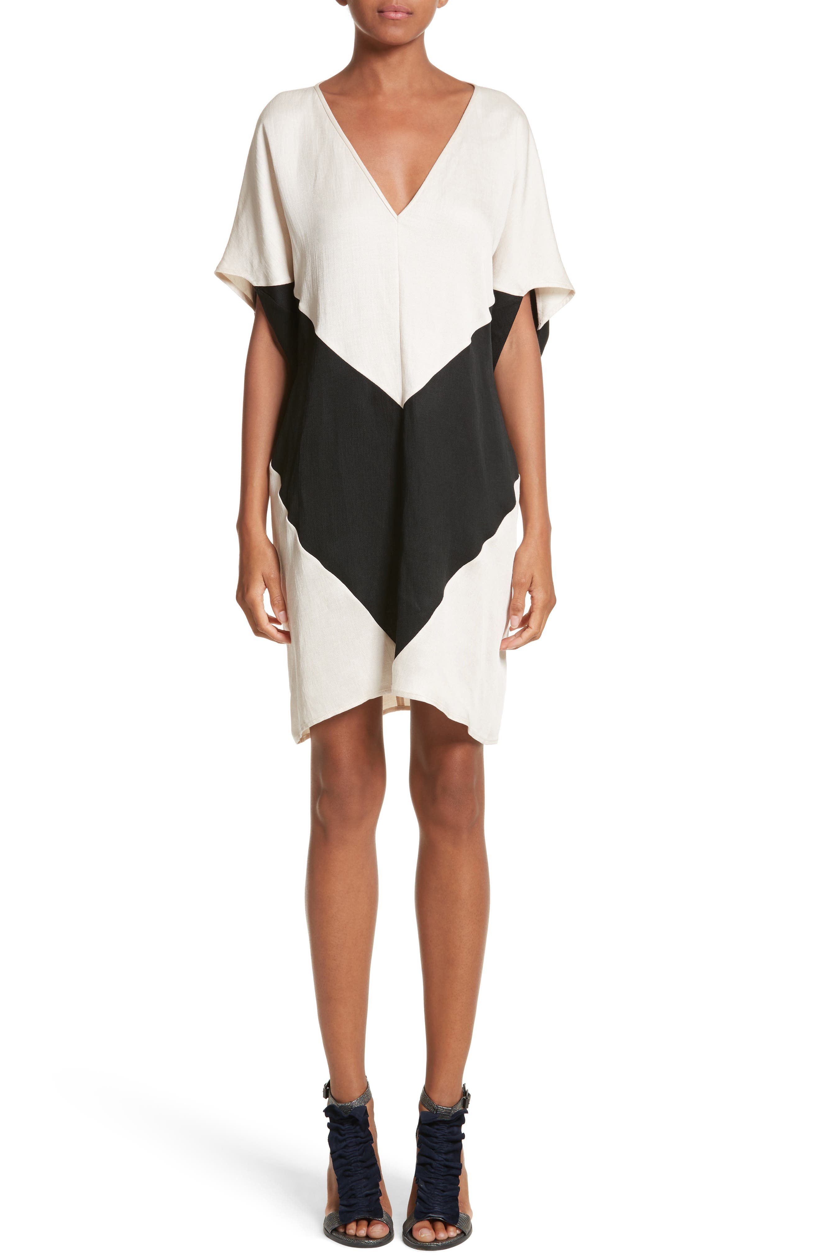 Zero + Maria Cornejo Colorblock Dress