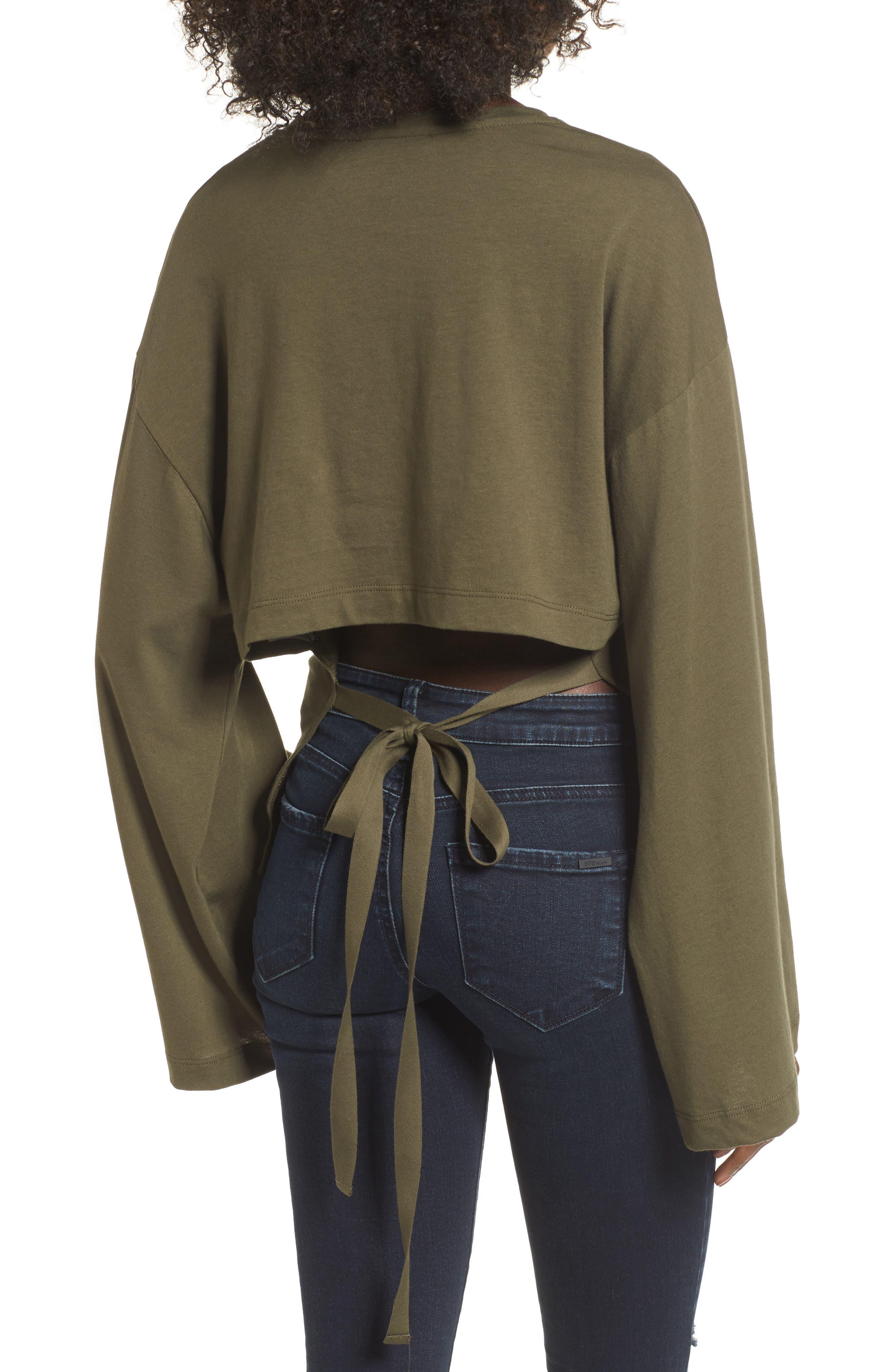 Alternate Image 2  - Tie Back Bell Sleeve Top