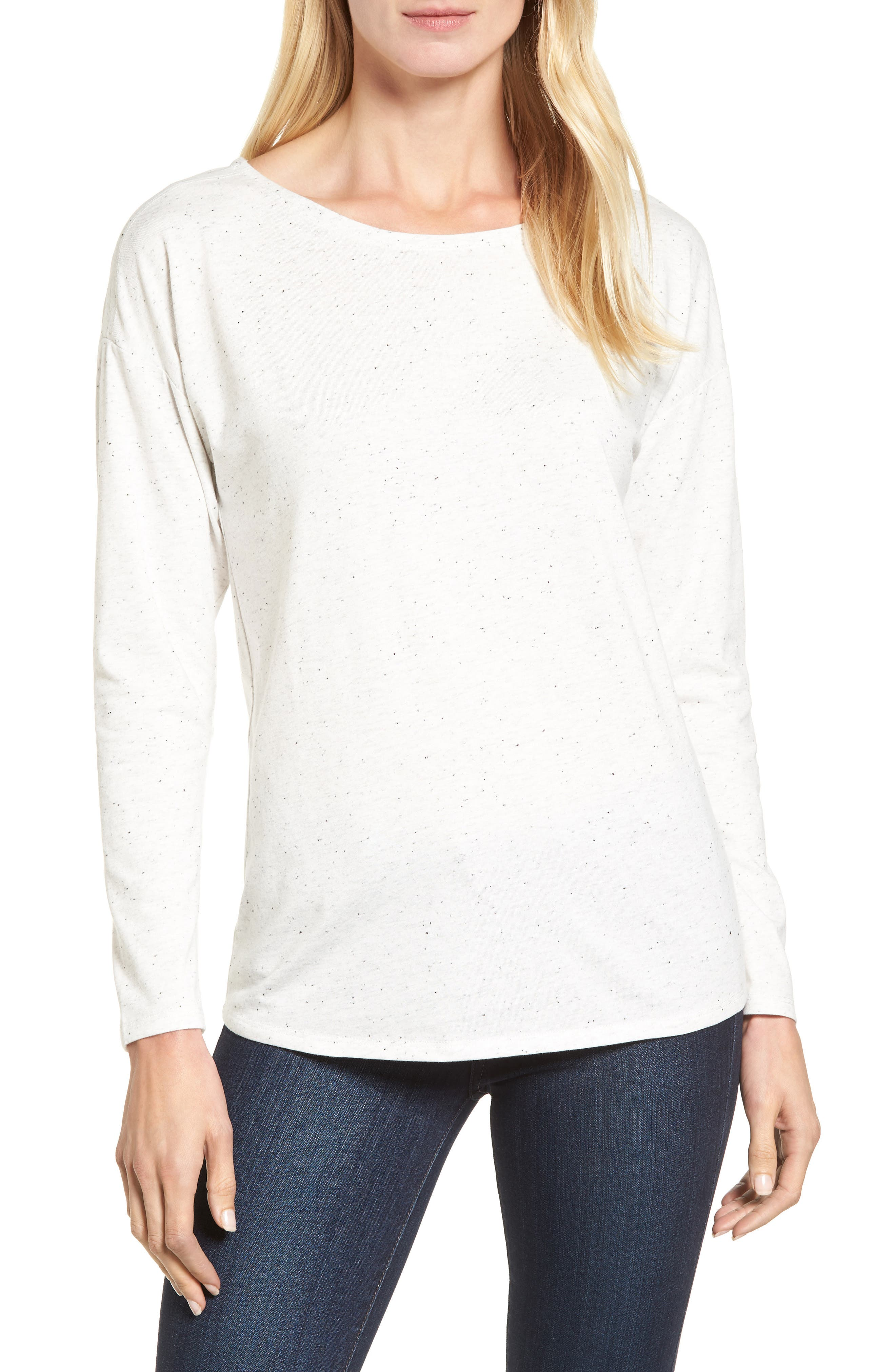 Main Image - NIC+ZOE Salt & Pepper Long Sleeve Top