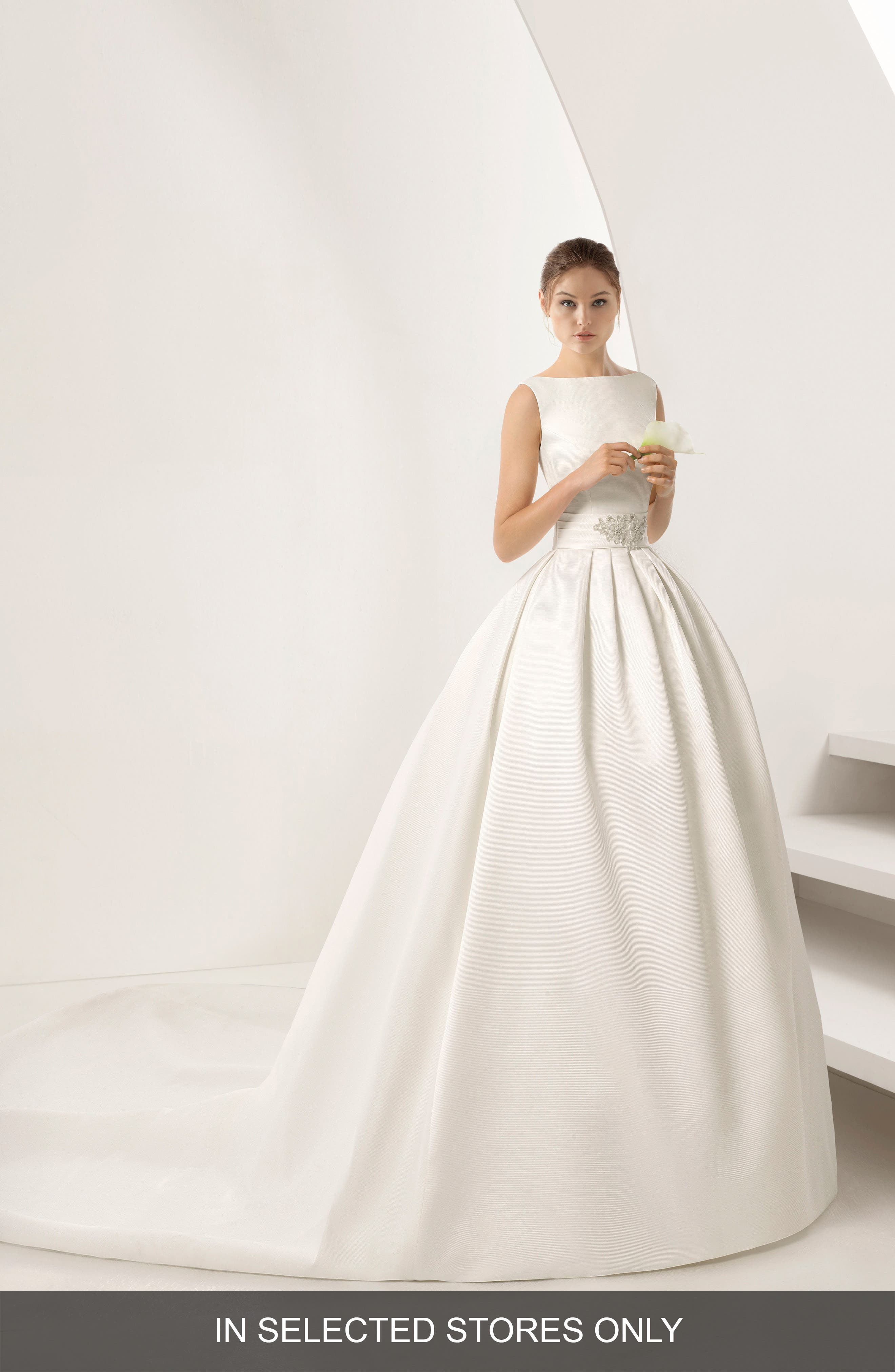 Opulento Mikado Ballgown,                             Main thumbnail 1, color,                             Natural
