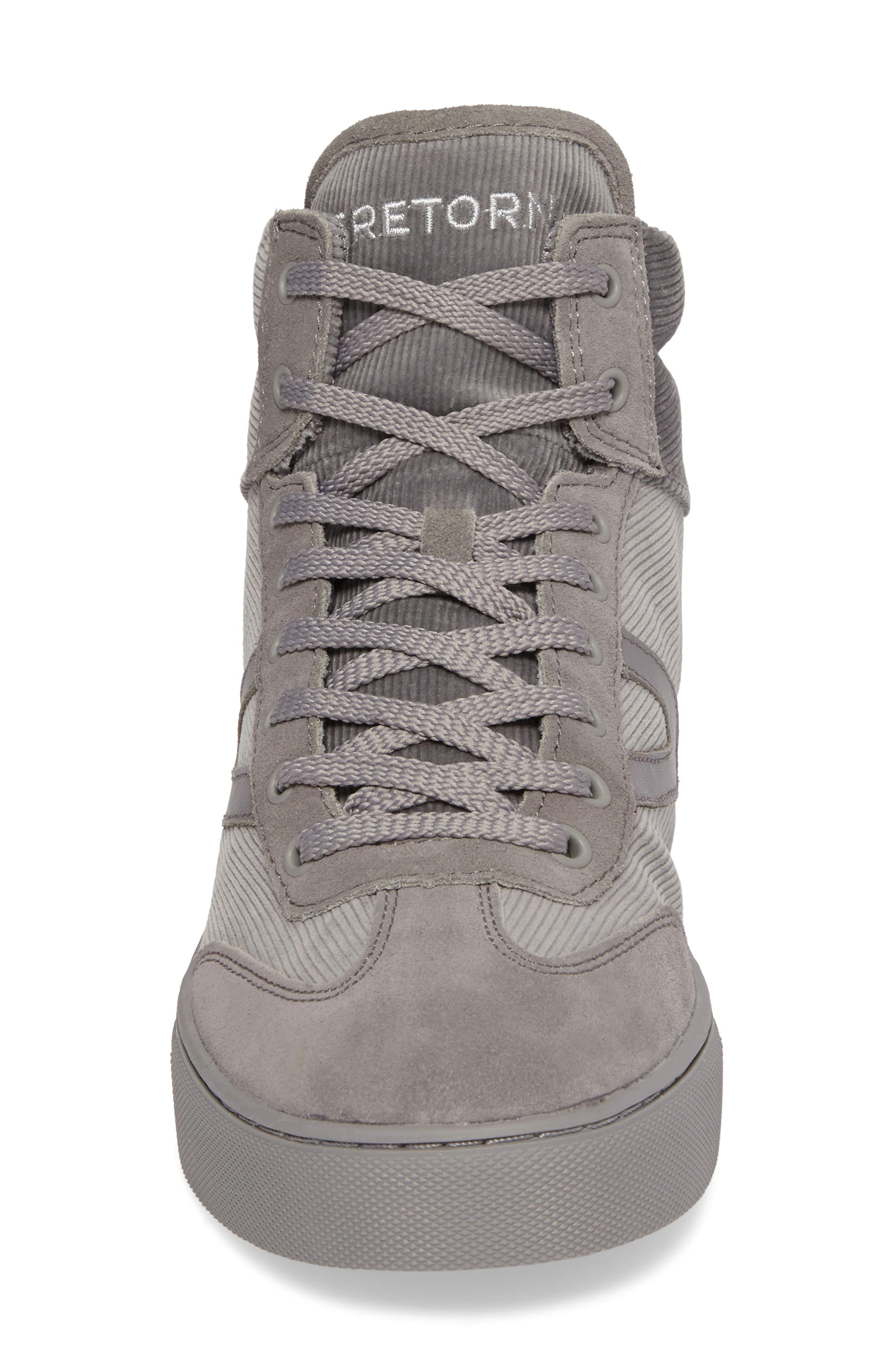 Jack High Top Sneaker,                             Alternate thumbnail 4, color,                             Grey/ Grey