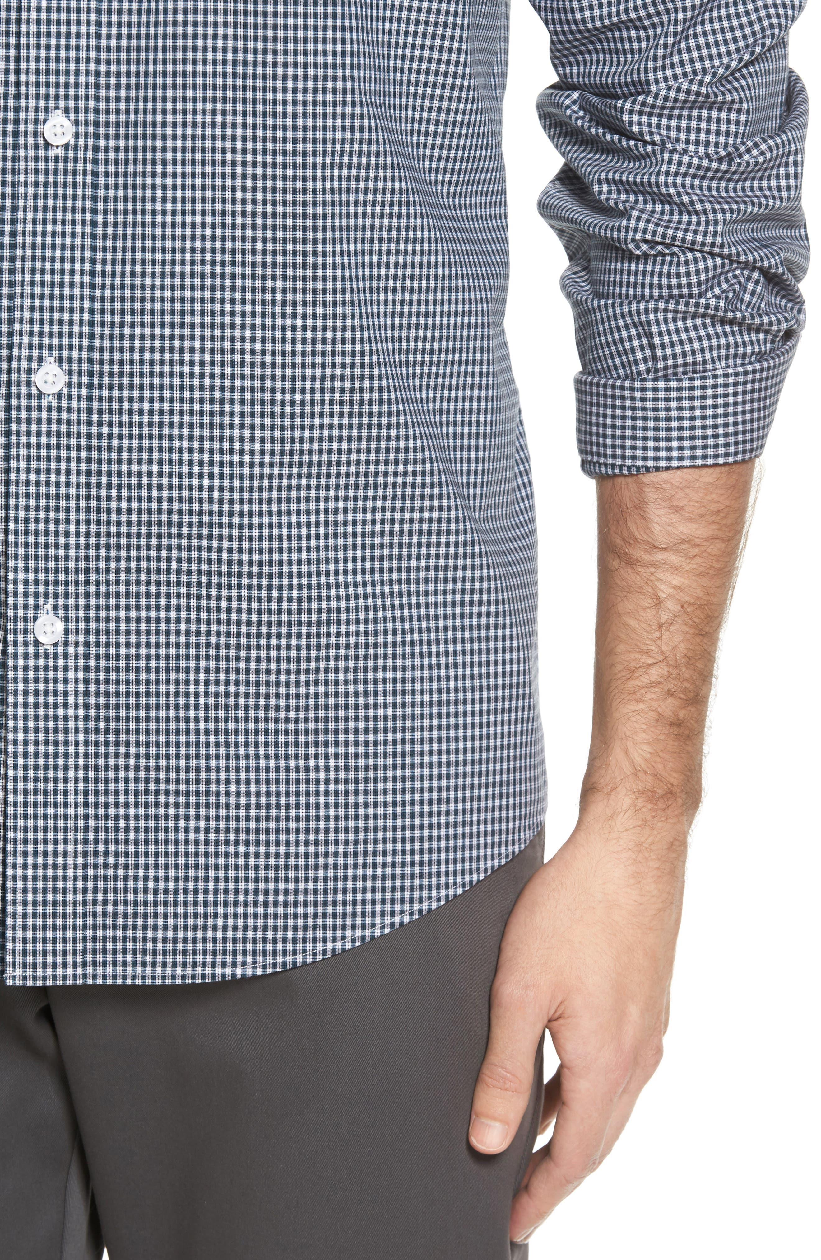 Alternate Image 4  - Nordstrom Men's Shop Smartcare™ Regular Fit Plaid Sport Shirt