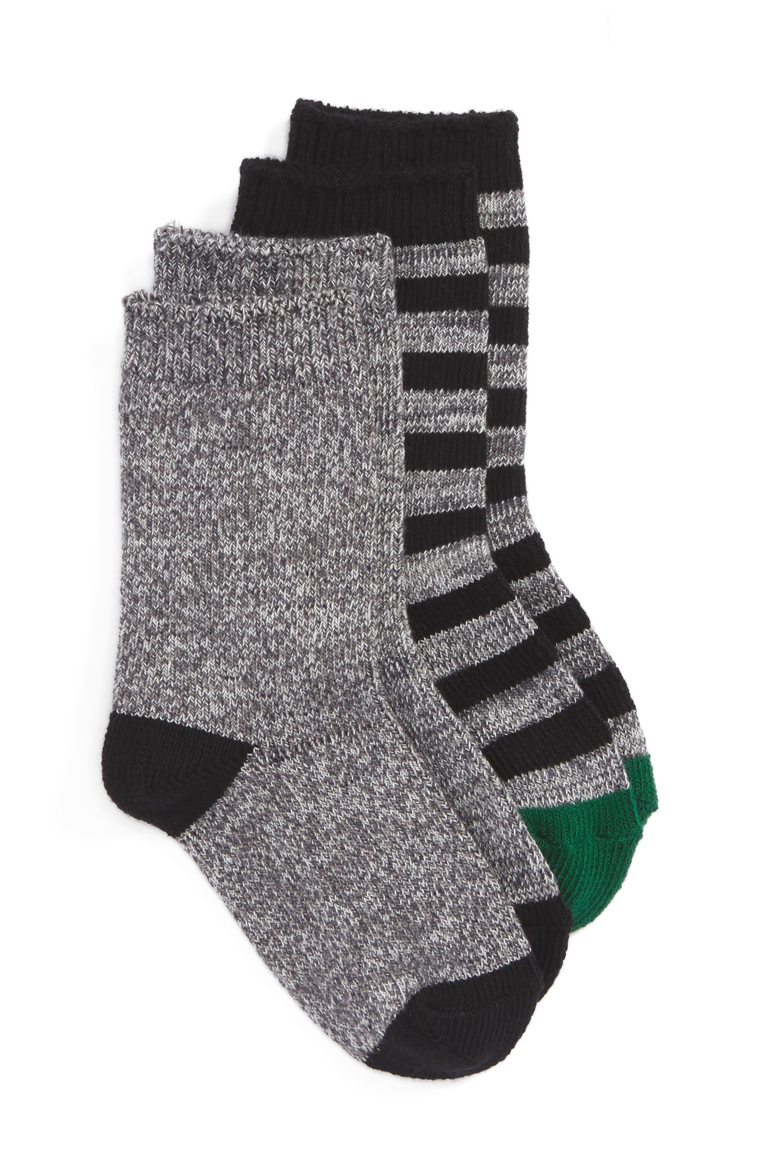 Tucker + Tate Assorted 2-Pack Crew Socks (Toddler, Little Kid & Big Kid)