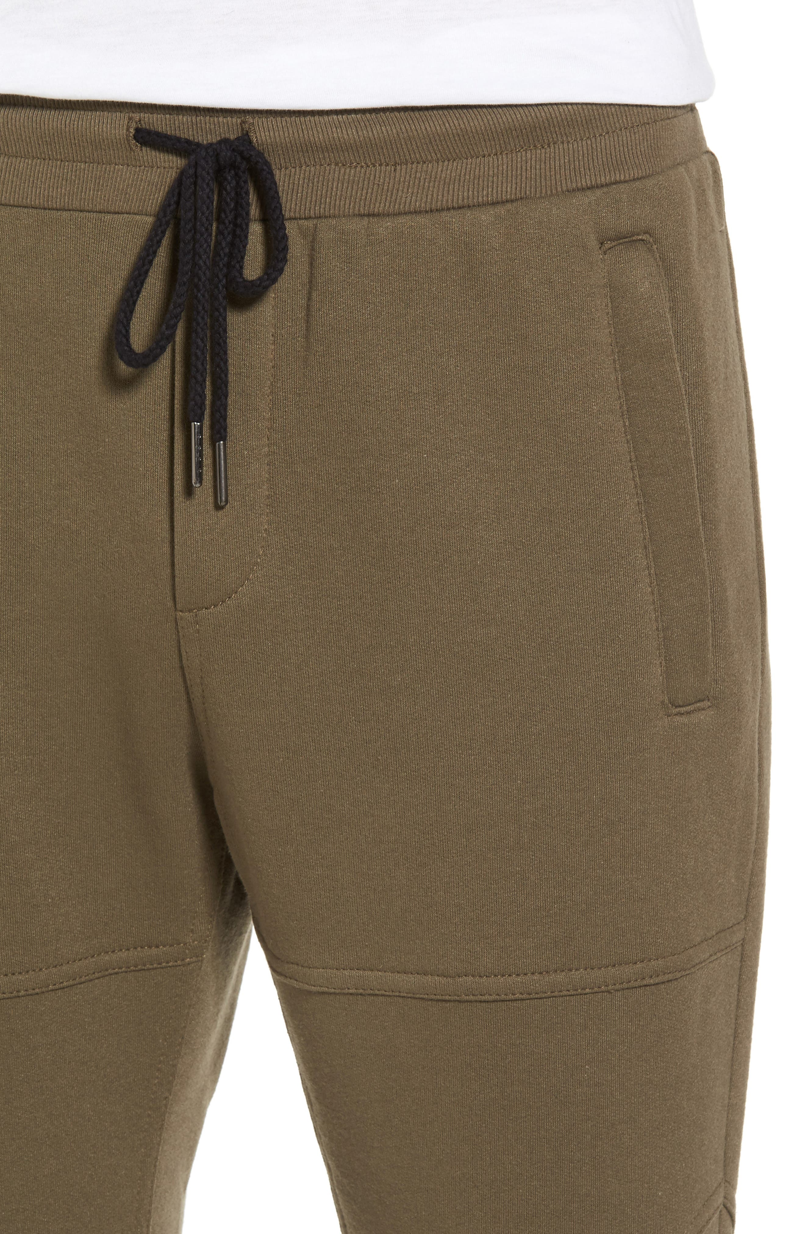 French Terry Sweatpants,                             Alternate thumbnail 4, color,                             Army