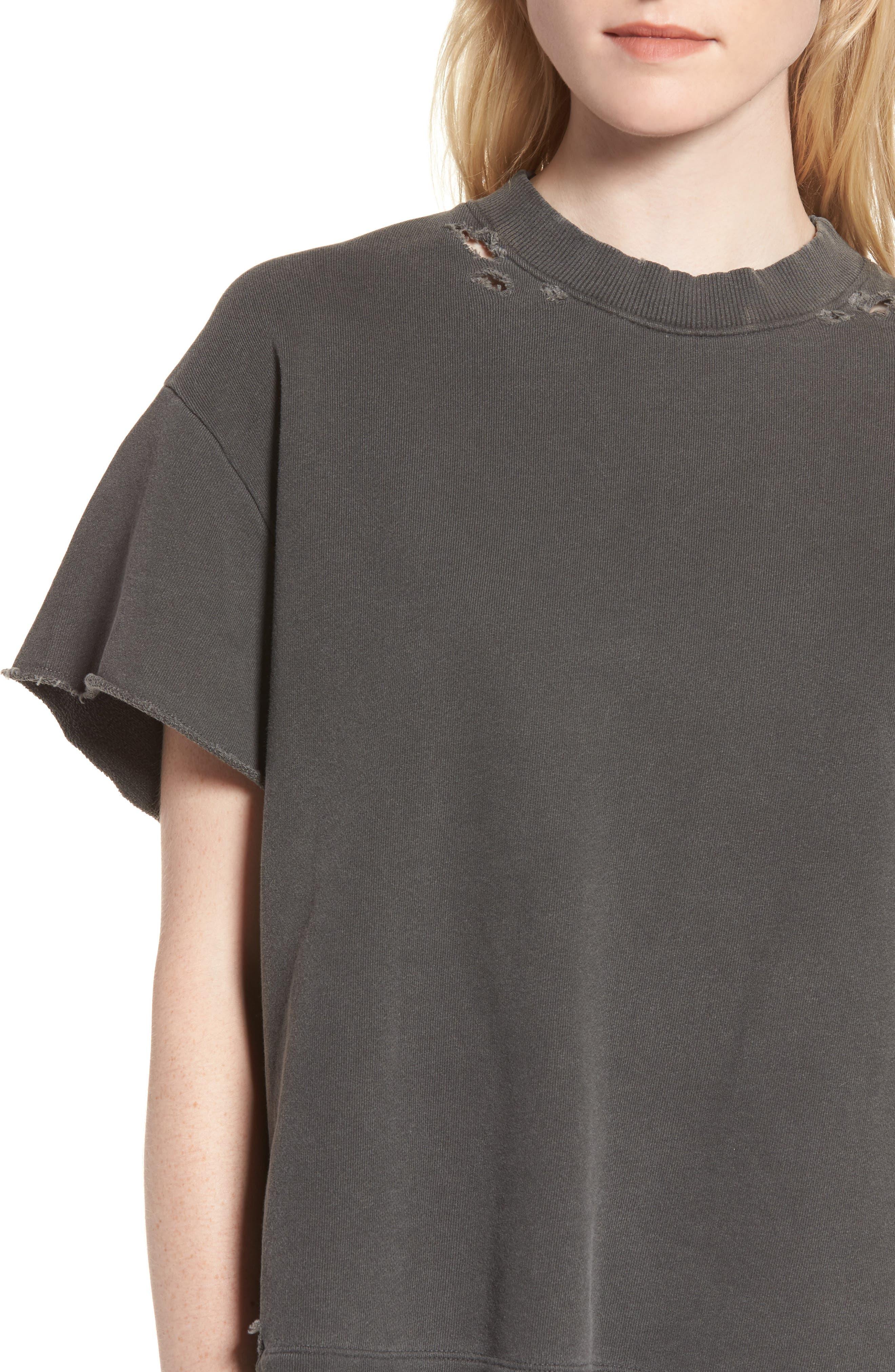Alternate Image 4  - AG Diana Distressed Sweatshirt