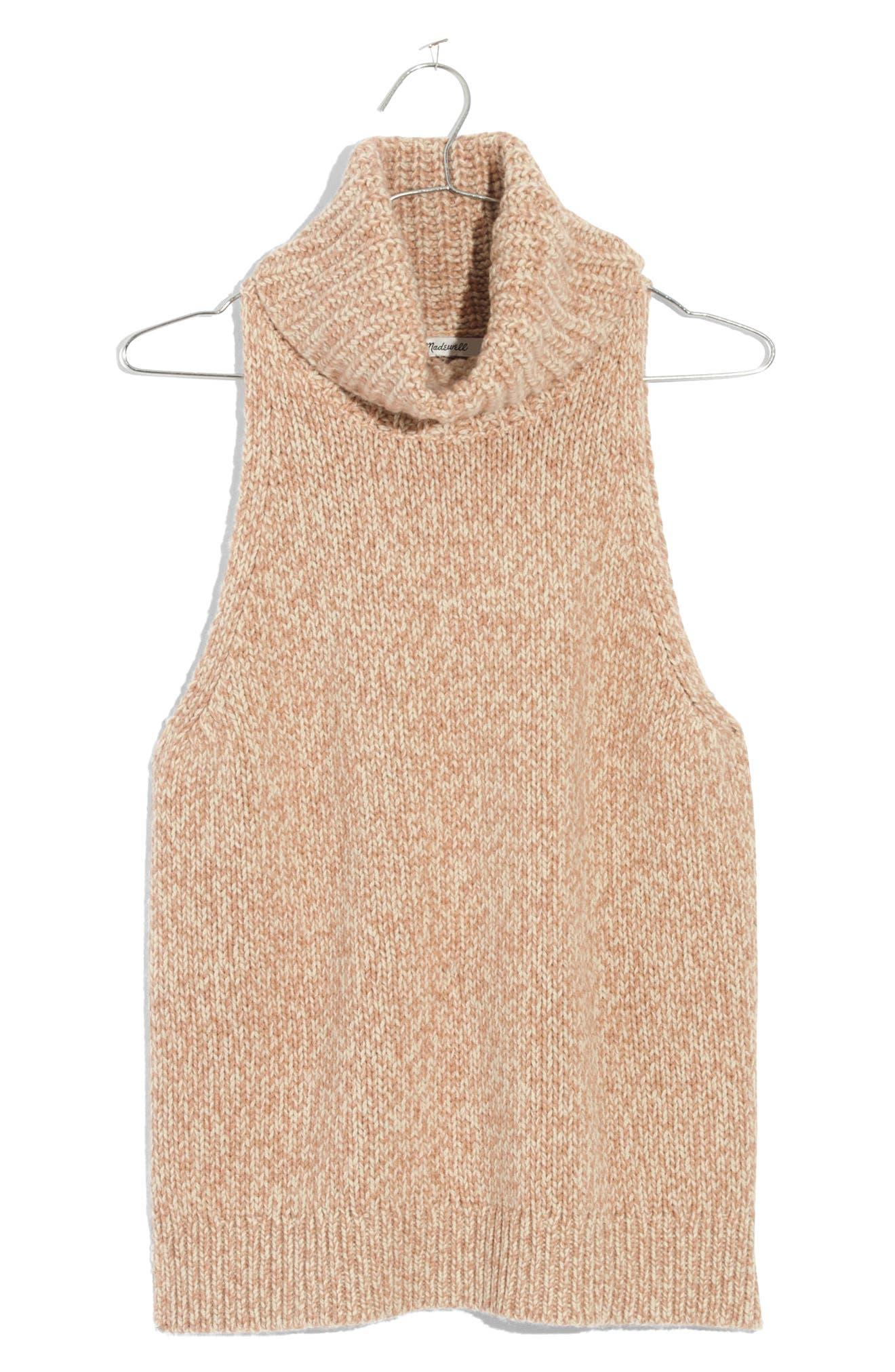 Madewell Marled Sleeveless Turtleneck Sweater